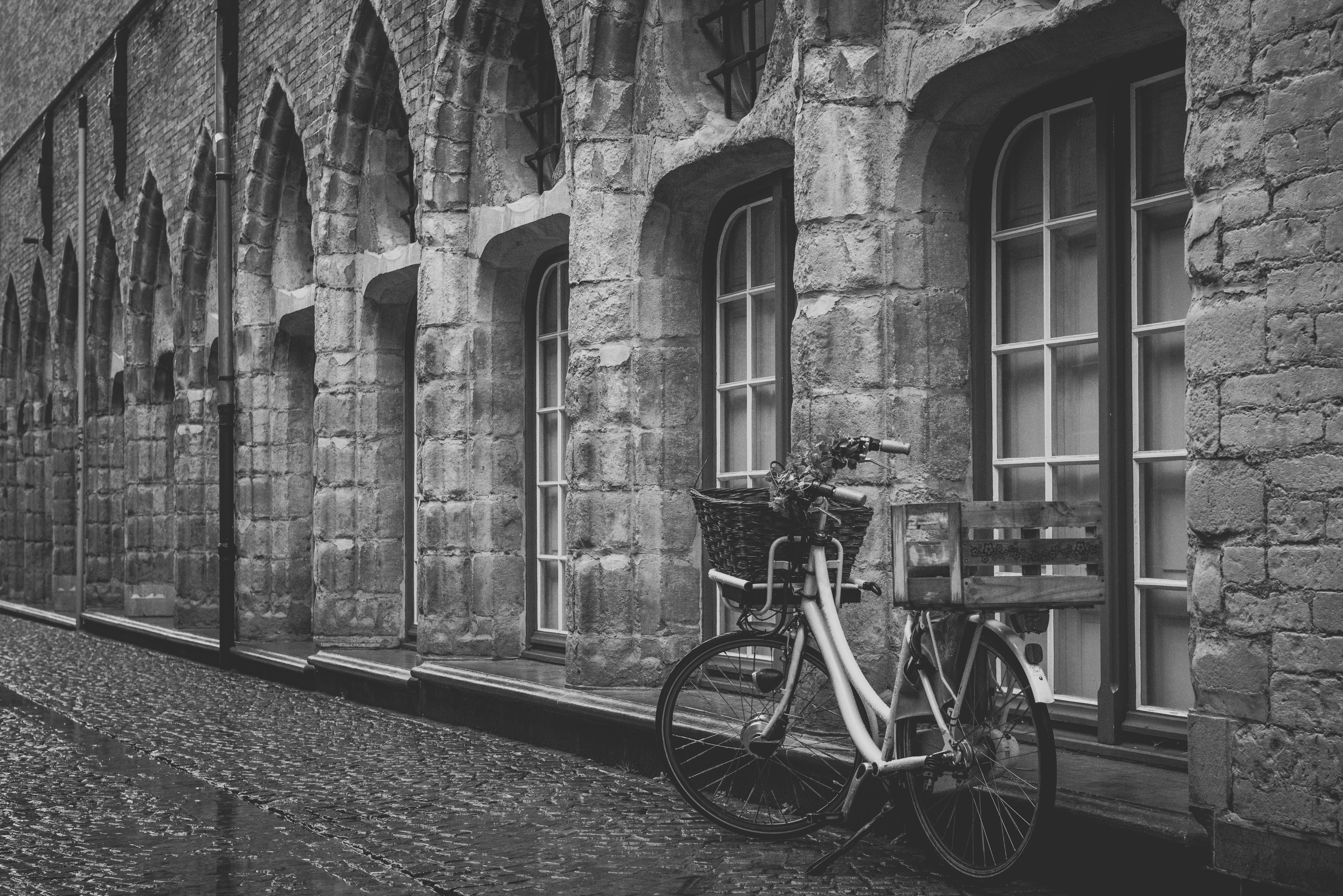 Lonely, Alone, Bicycle, Building, Cycle, HQ Photo