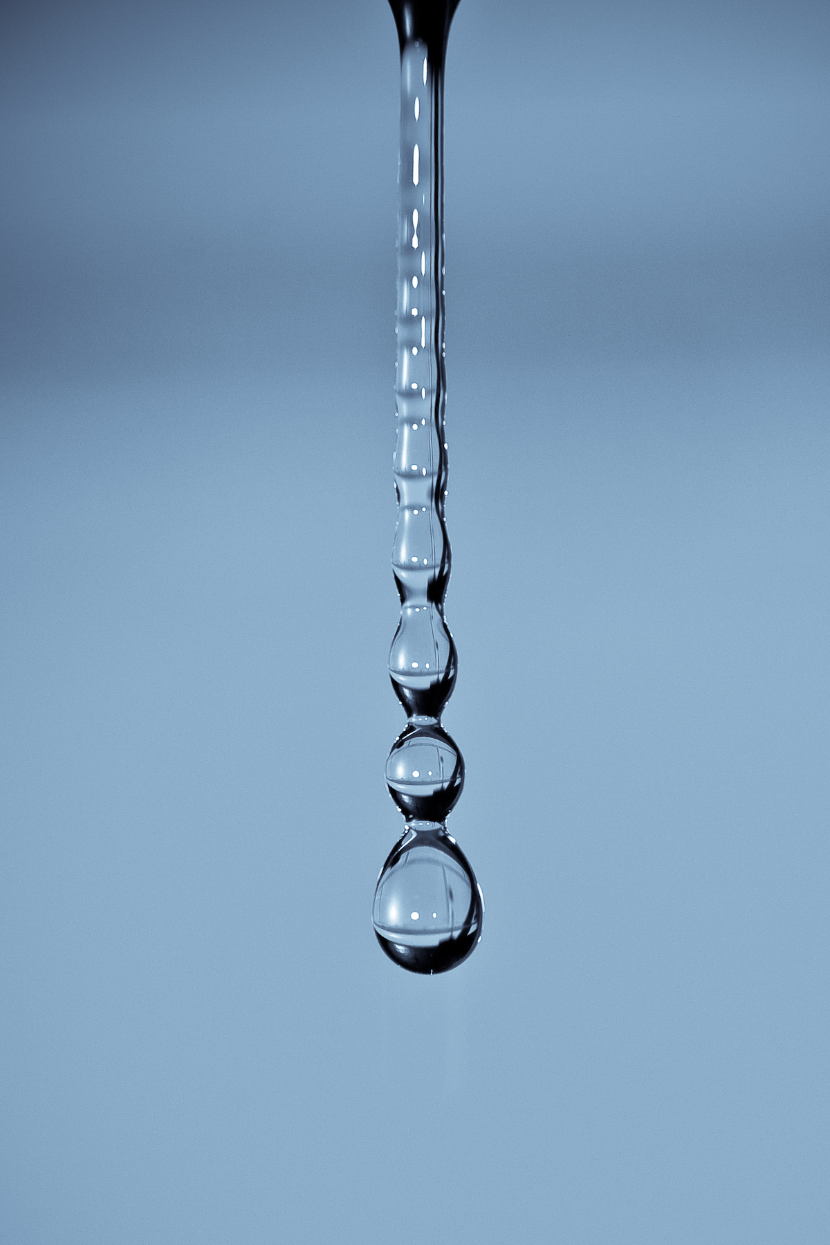 Long drop of water photo