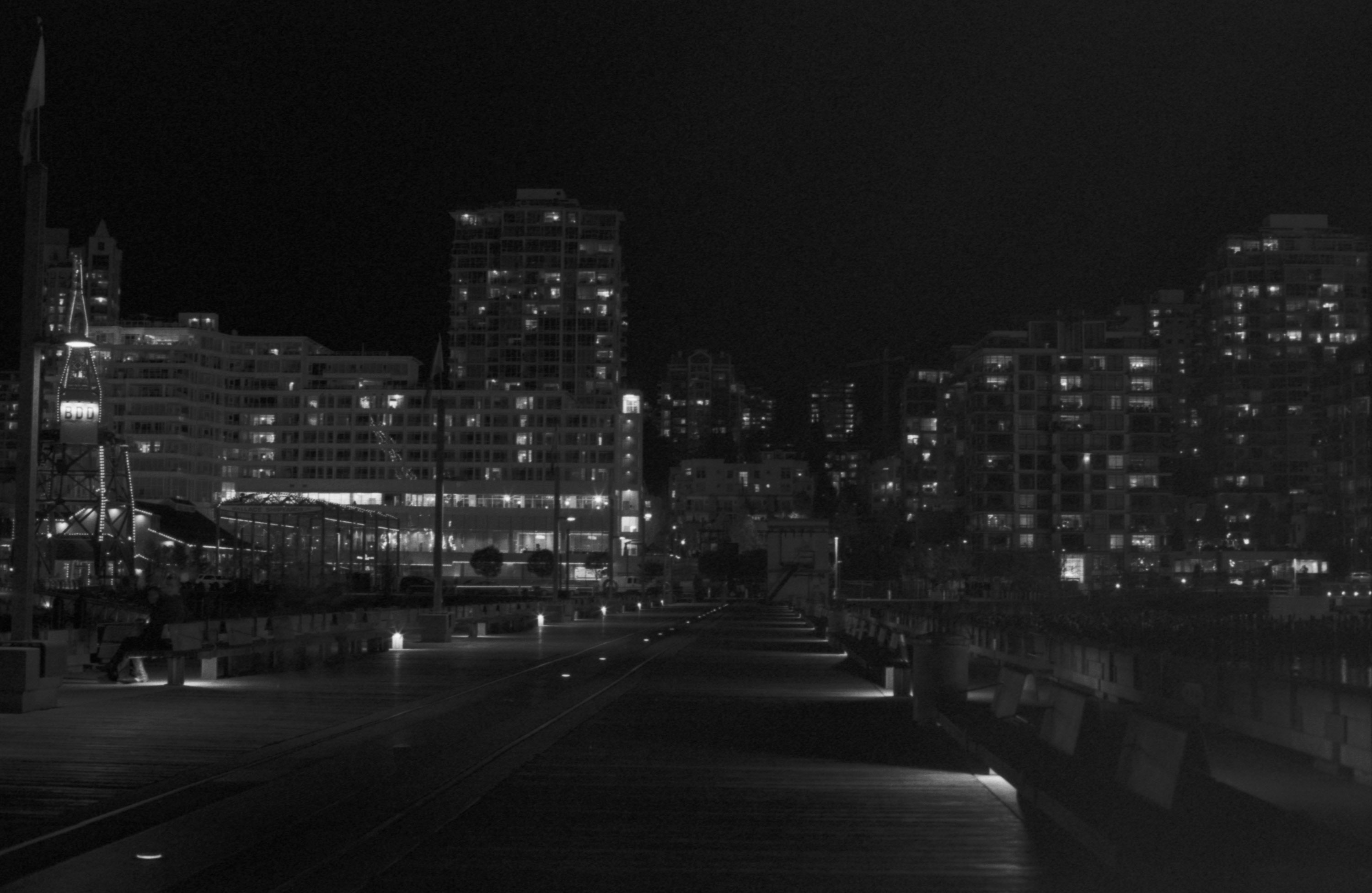 Lonsdale quay apartments night photo