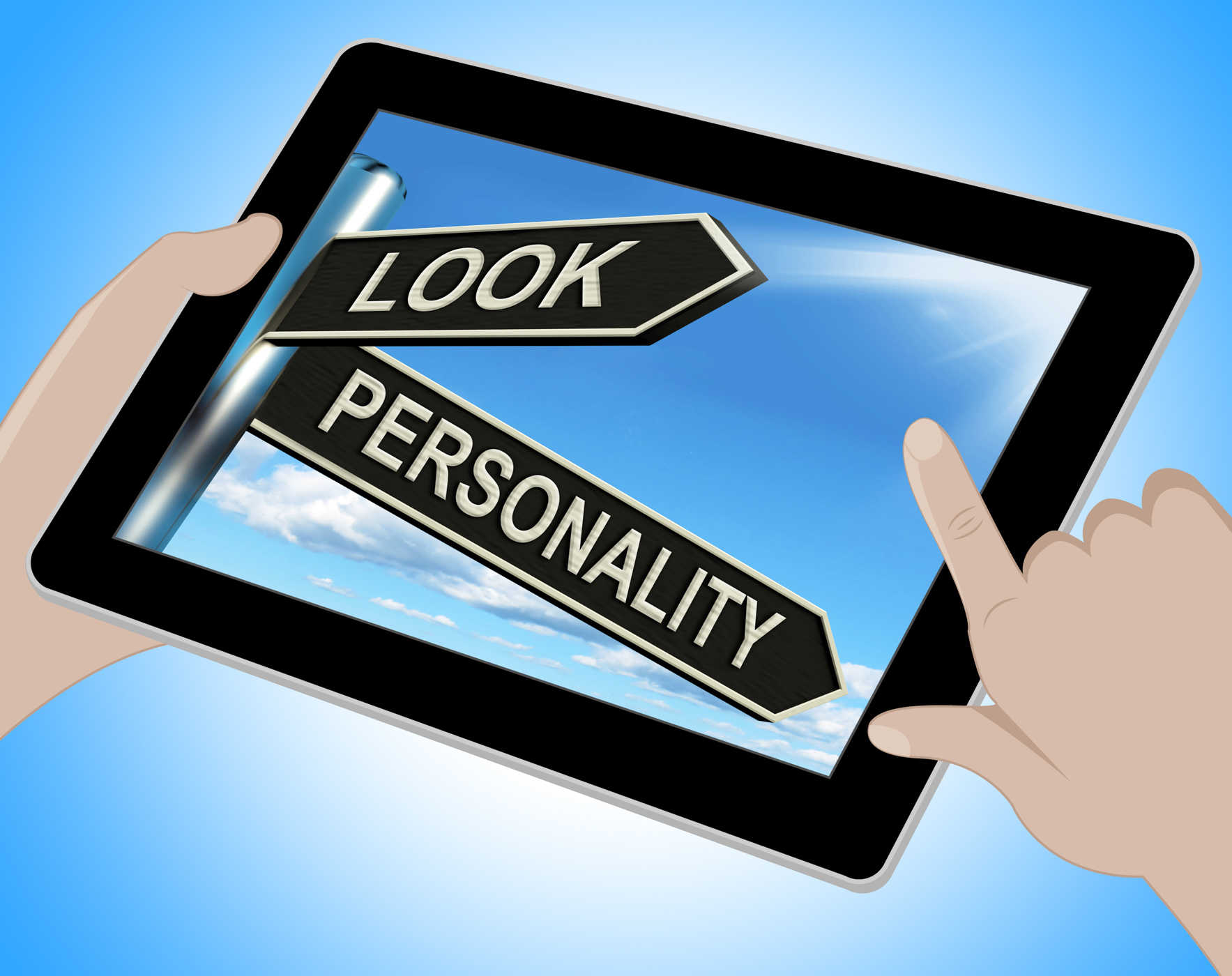 Look Personality Tablet Shows Appearance And Character, Appear, Appearance, Attitude, Beauty, HQ Photo