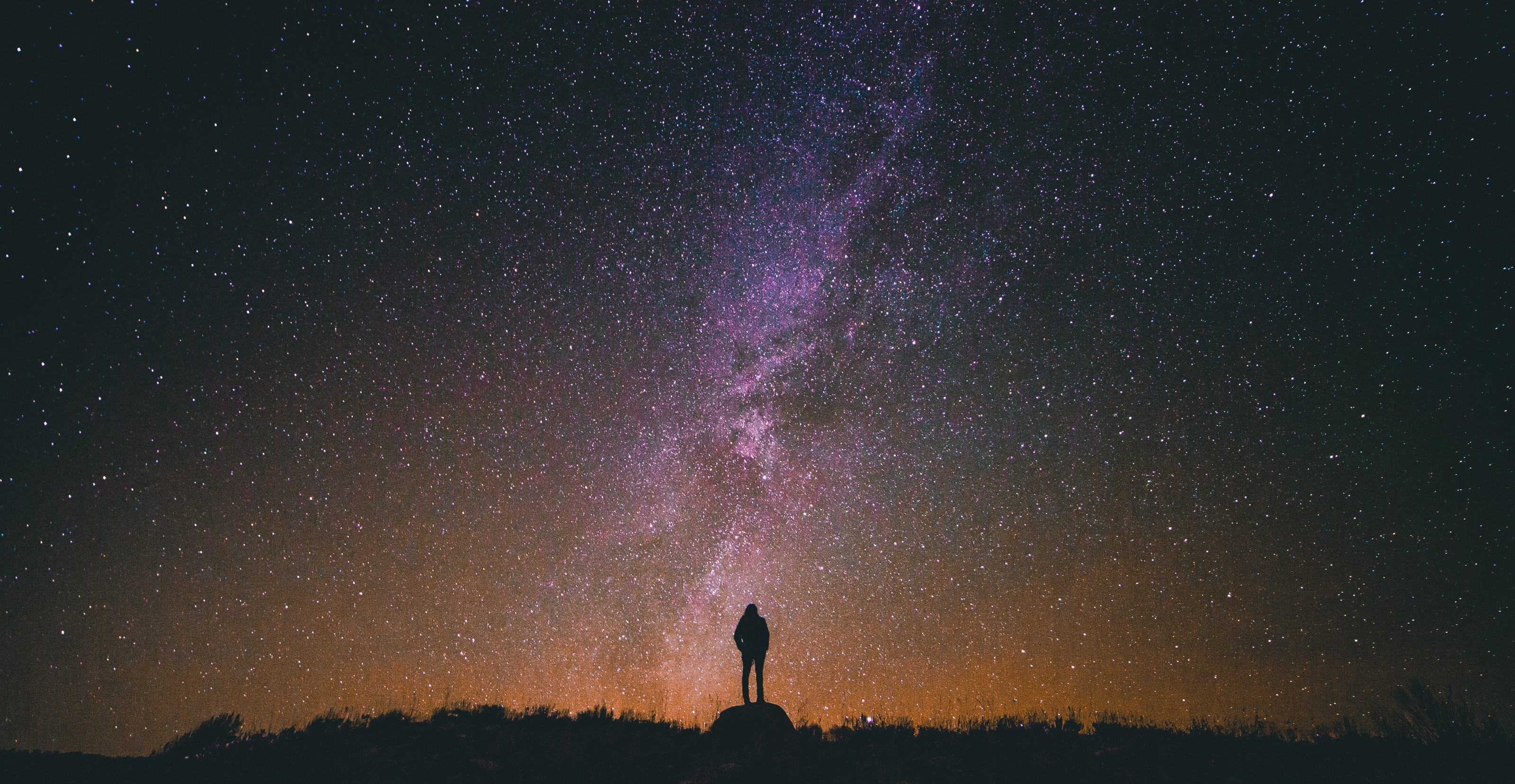 Looking at milky way, Common creative images, Night, Tourist, Stars, HQ Photo