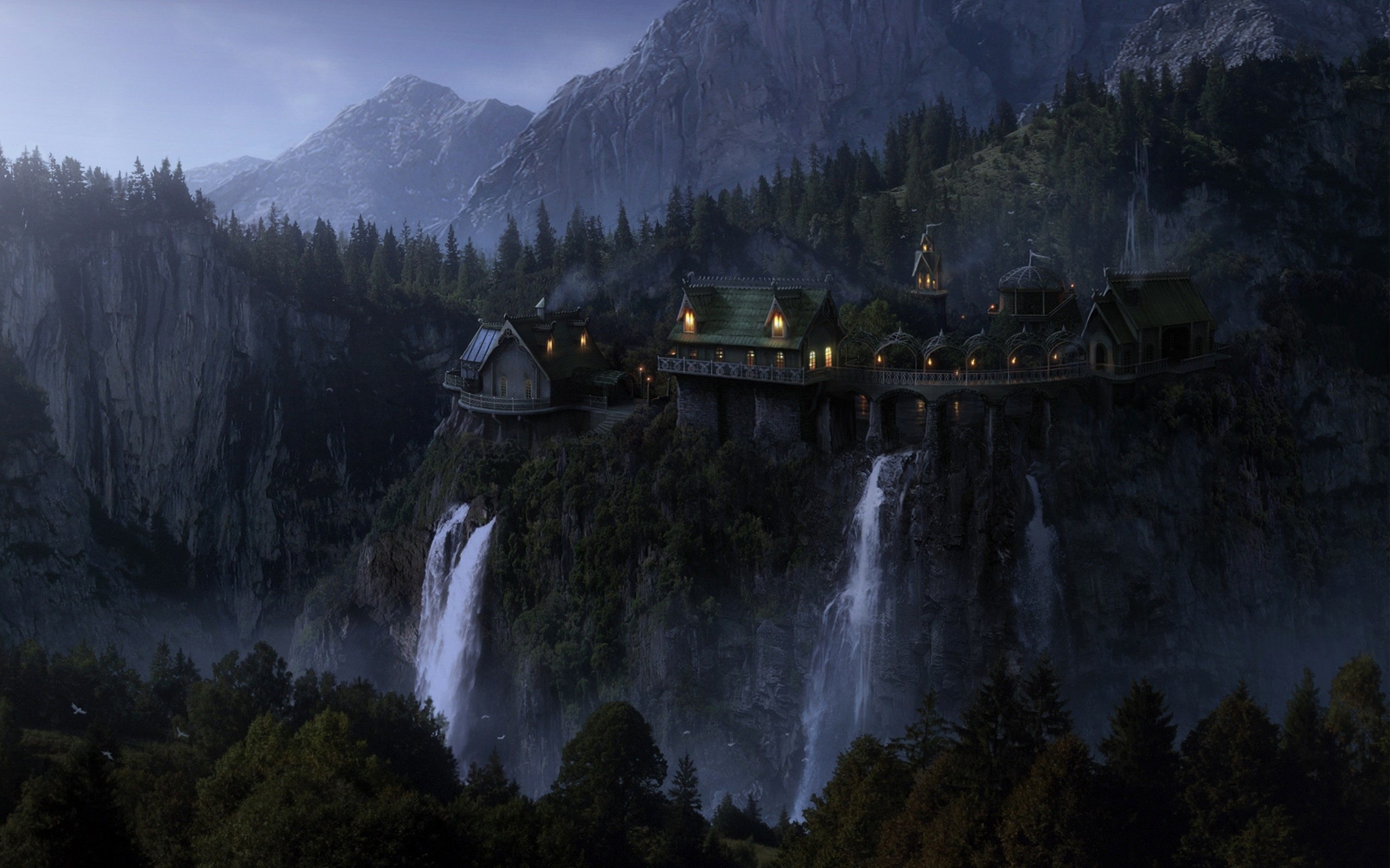landscapes, nature, The Lord of the Rings, Rivendell :: Wallpapers