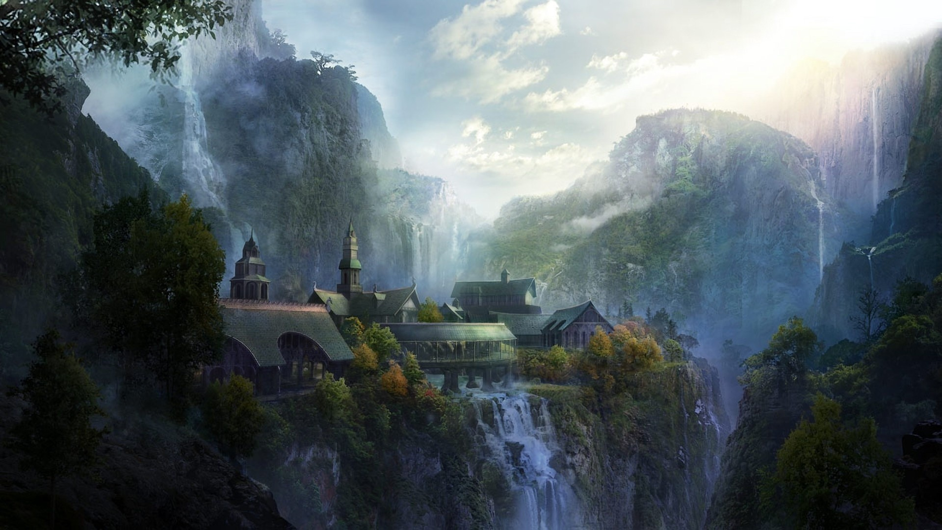landscapes, nature, The Lord of the Rings, artwork :: Wallpapers
