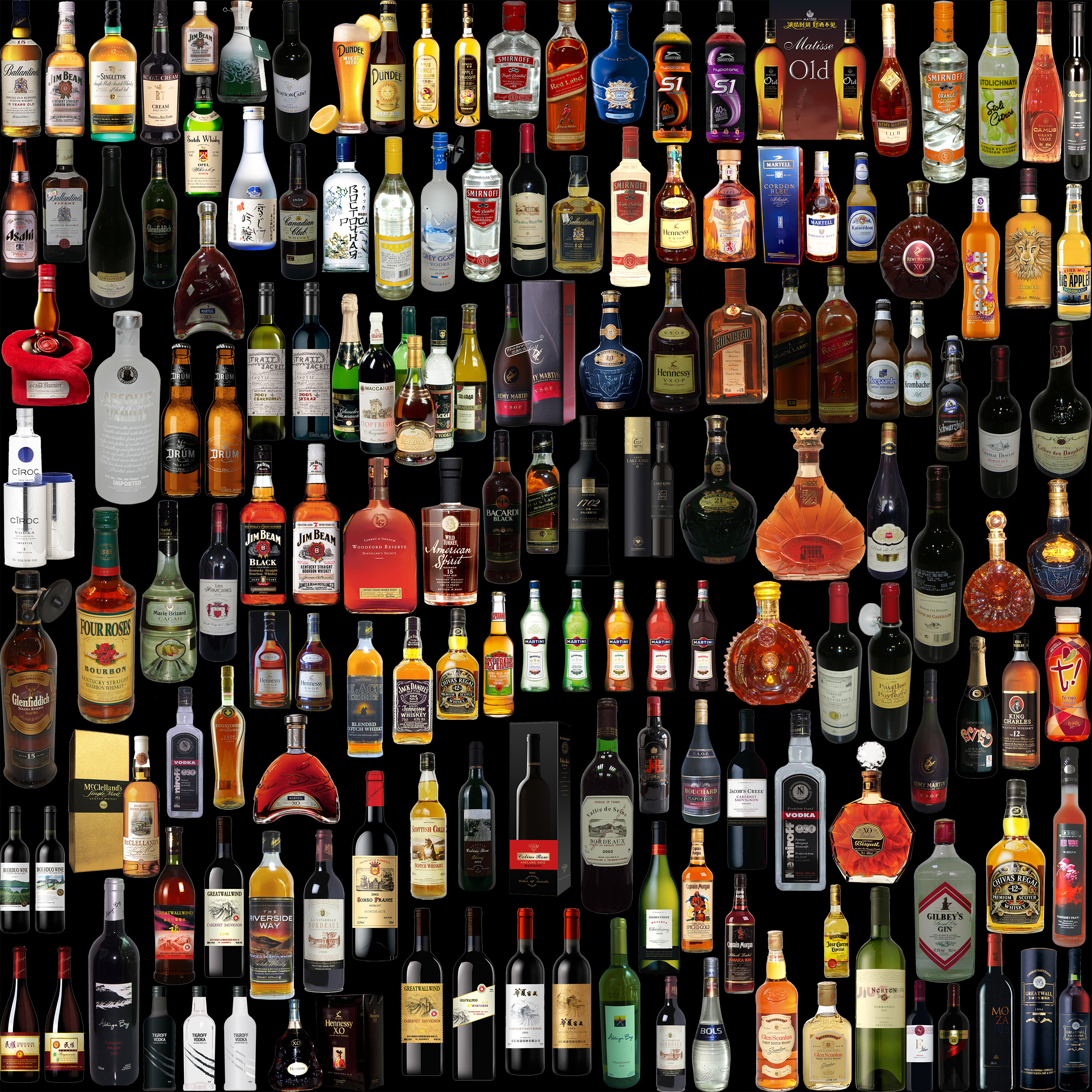 Lot of drinks photo