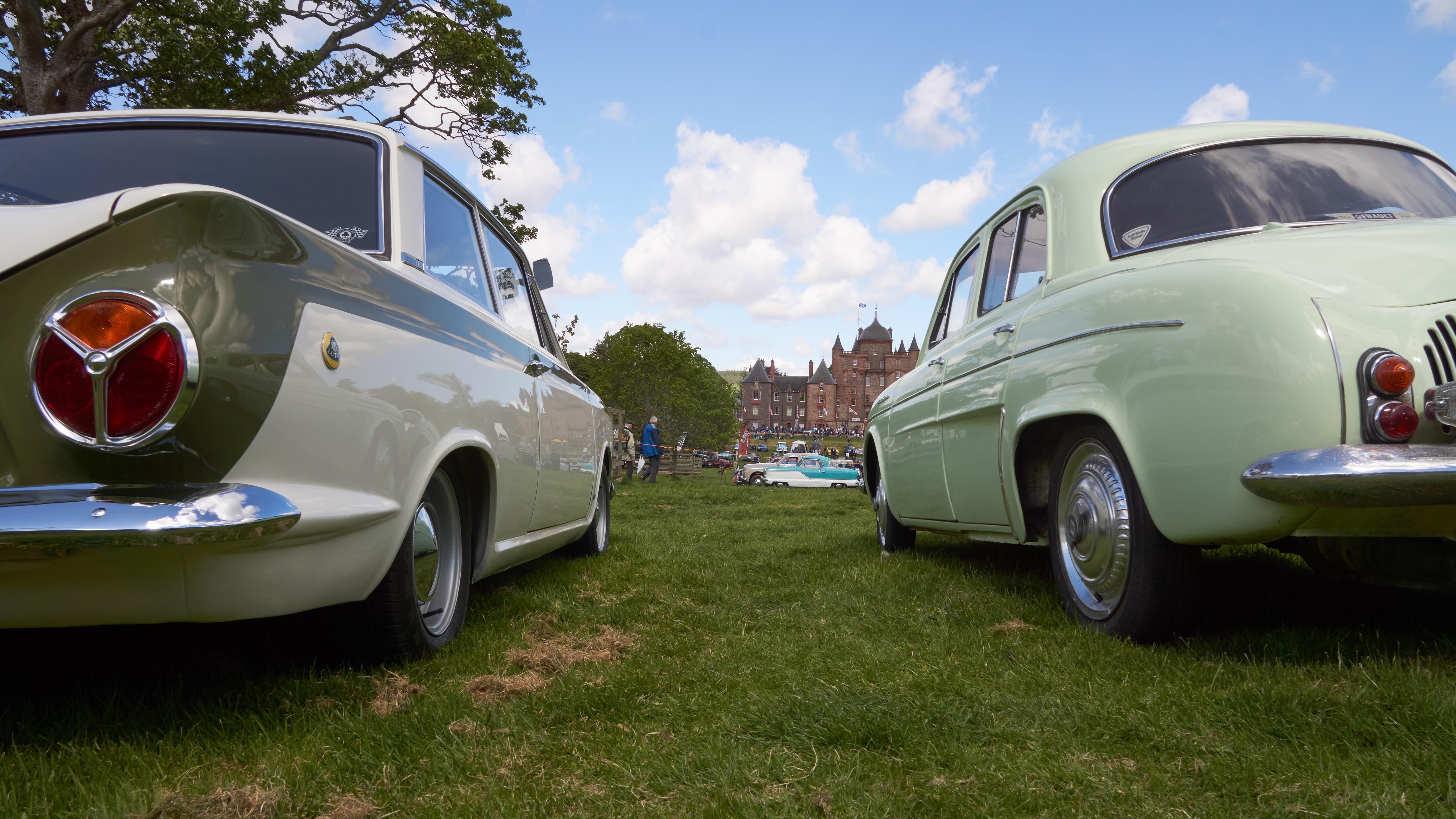 Lotus Cortina, Renault Dauphine and Nash Metropolitan, Car, Outdoor, Thirlestane, Tire, HQ Photo