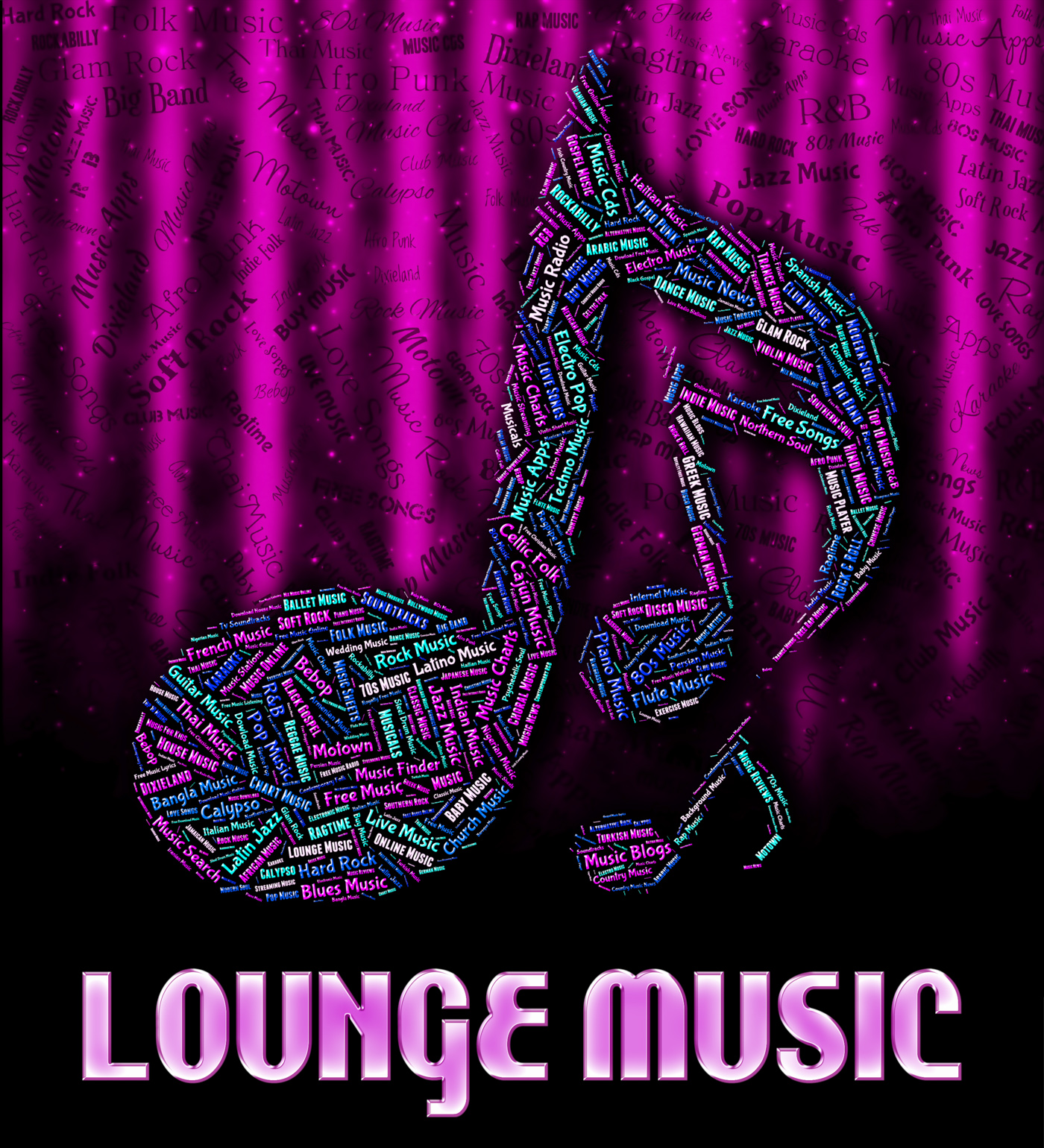 Lounge music indicates sound tracks and harmonies photo