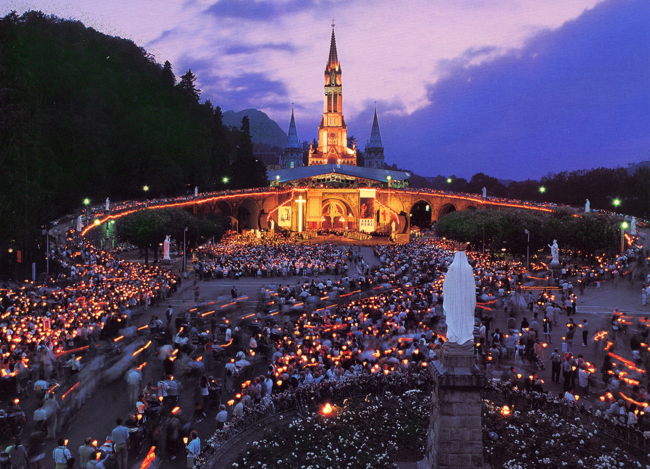 Sanctuary of Our Lady of Lourdes, France wallpaper | Catholic Quotations