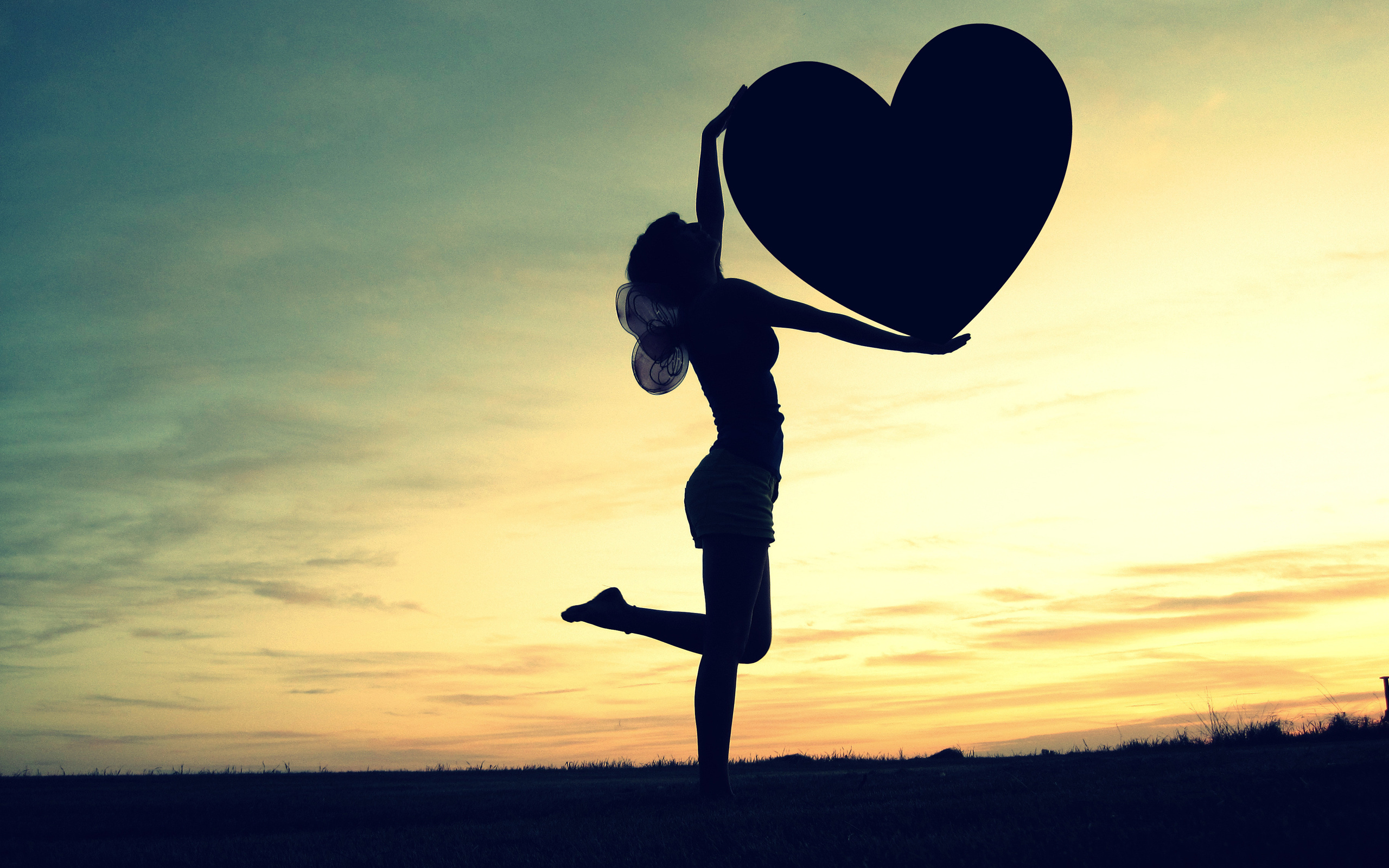 Wallpaper Love heart, Girl, HD, Love, #7035