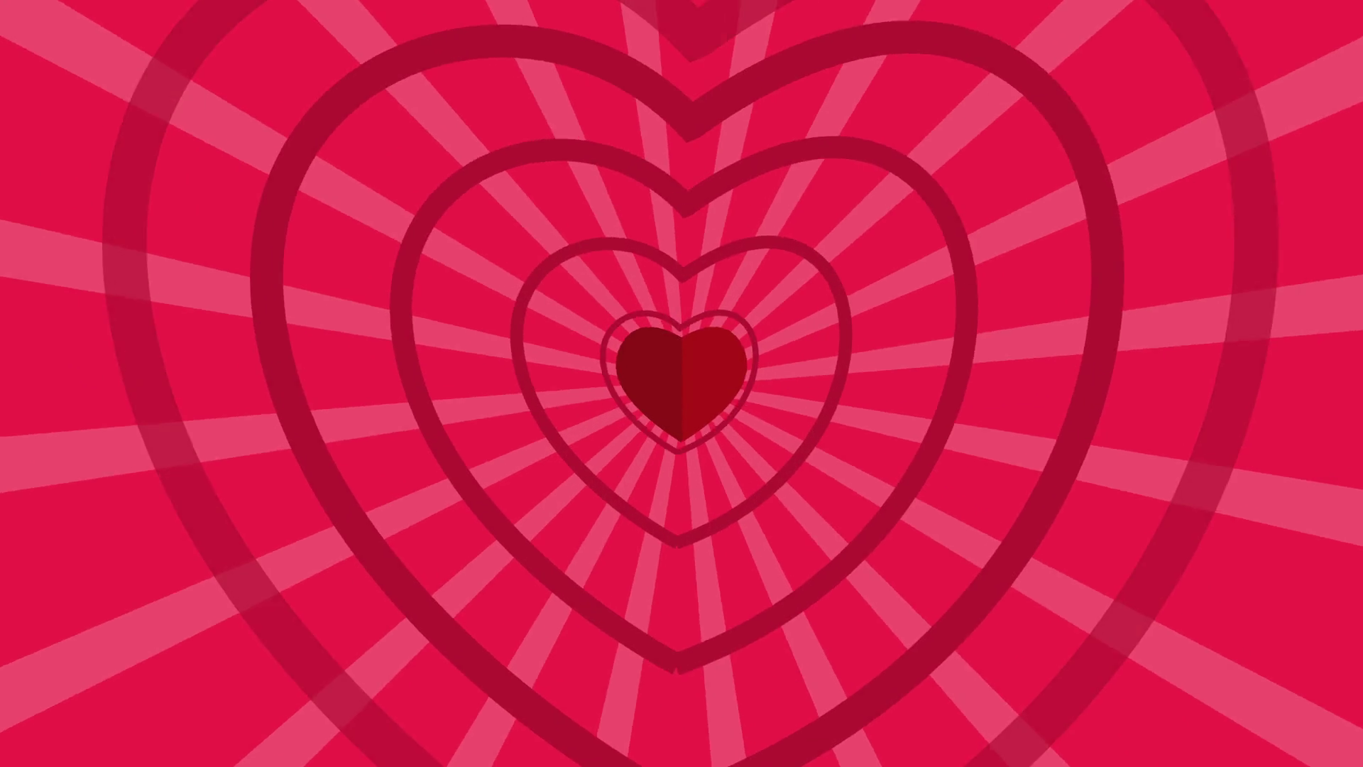Seamless Looping Red and Pink Heart Animated Background. Cartoon ...