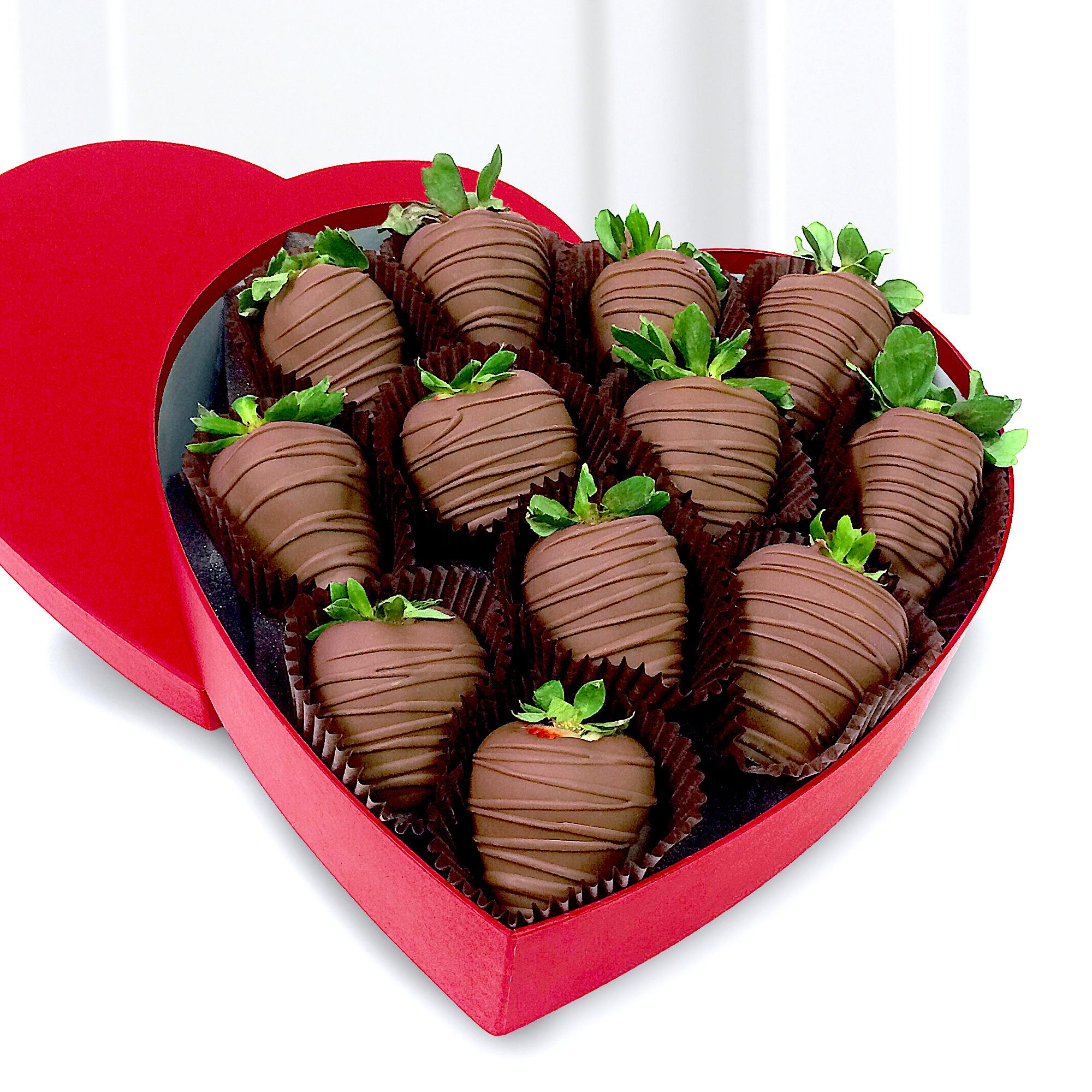 Decadent Dozen Chocolate Dipped Strawberries Delivered in Miami