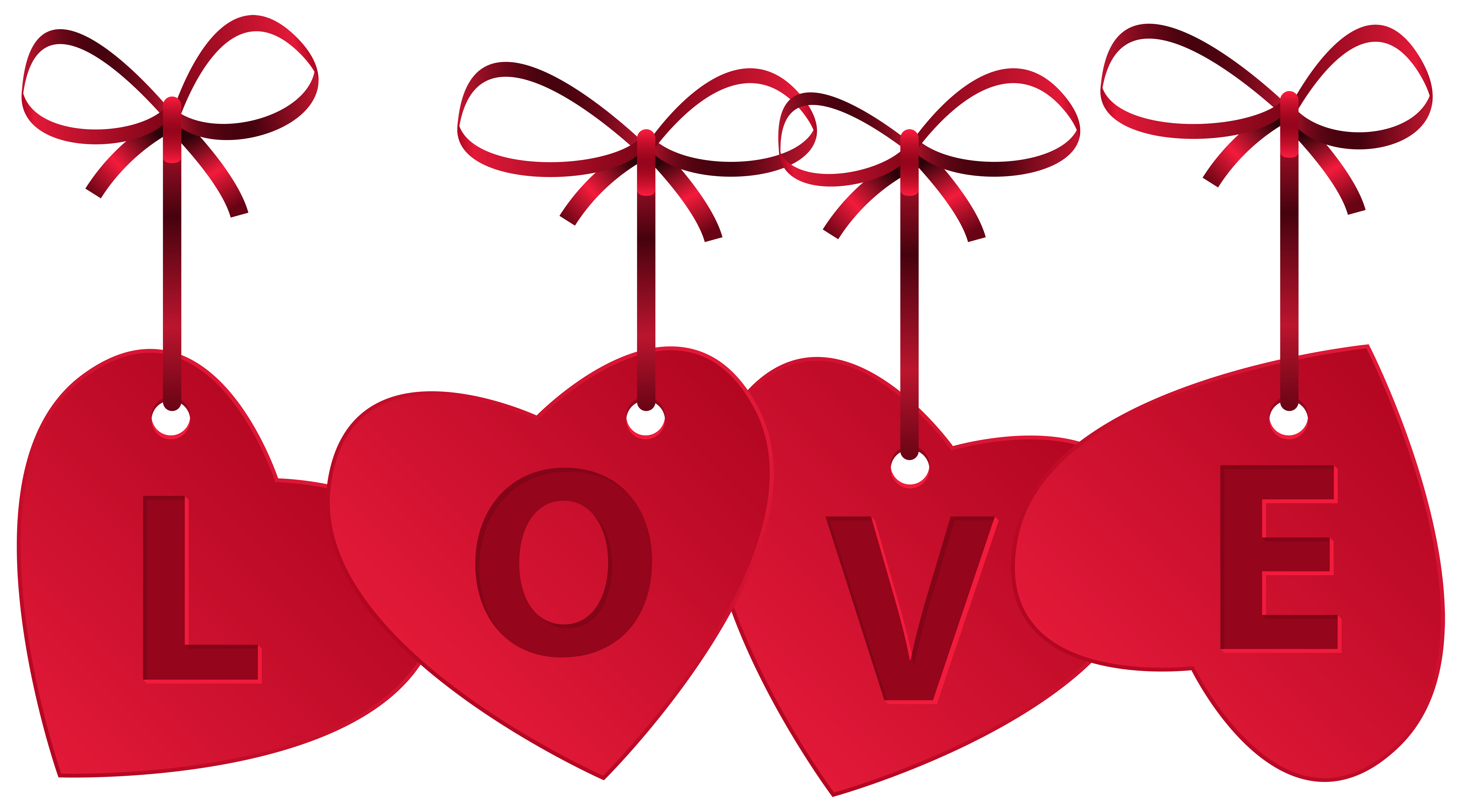 Hearts with Love Decoration PNG Clip Art Image | Gallery ...