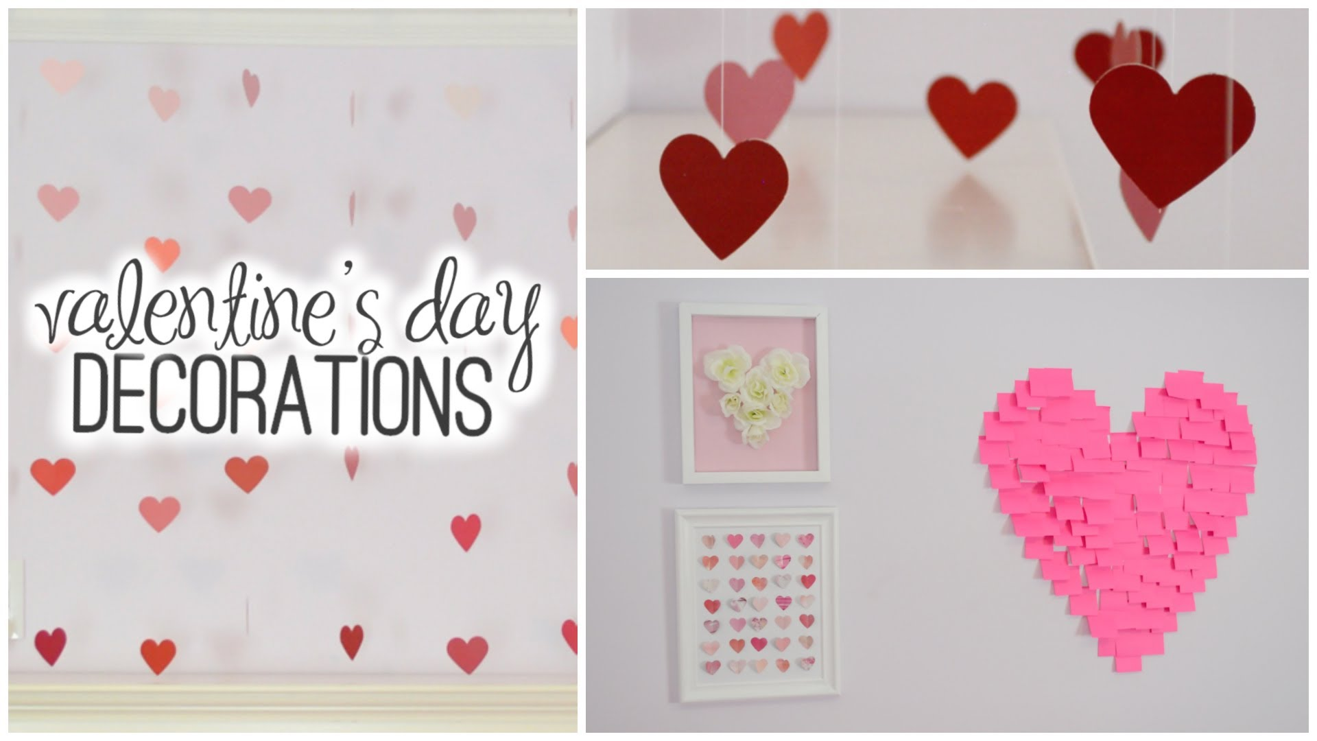 DIY Room Decorations for Valentine's Day! ♡ - YouTube