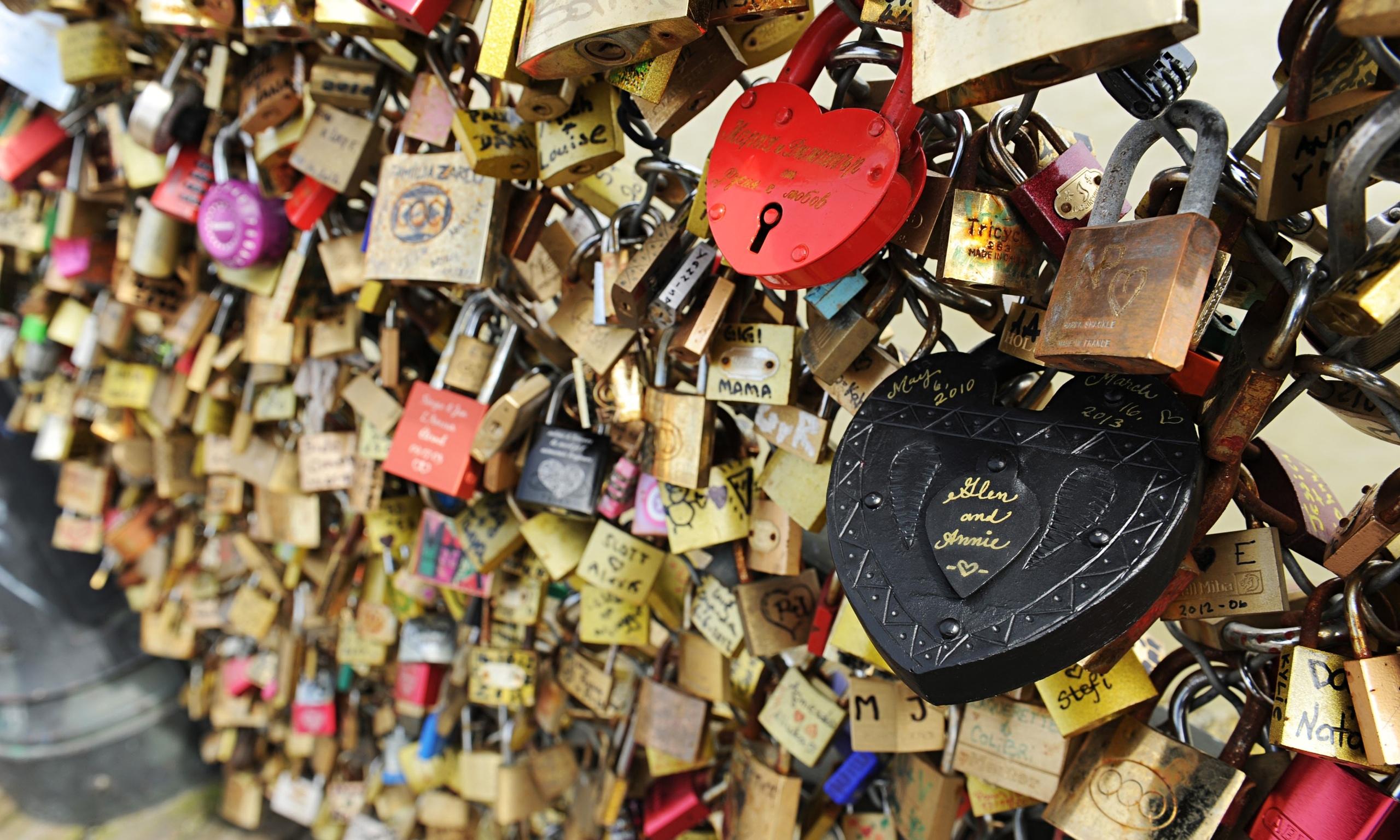 Love locks break bridges - and make me hate romance | Stuart ...
