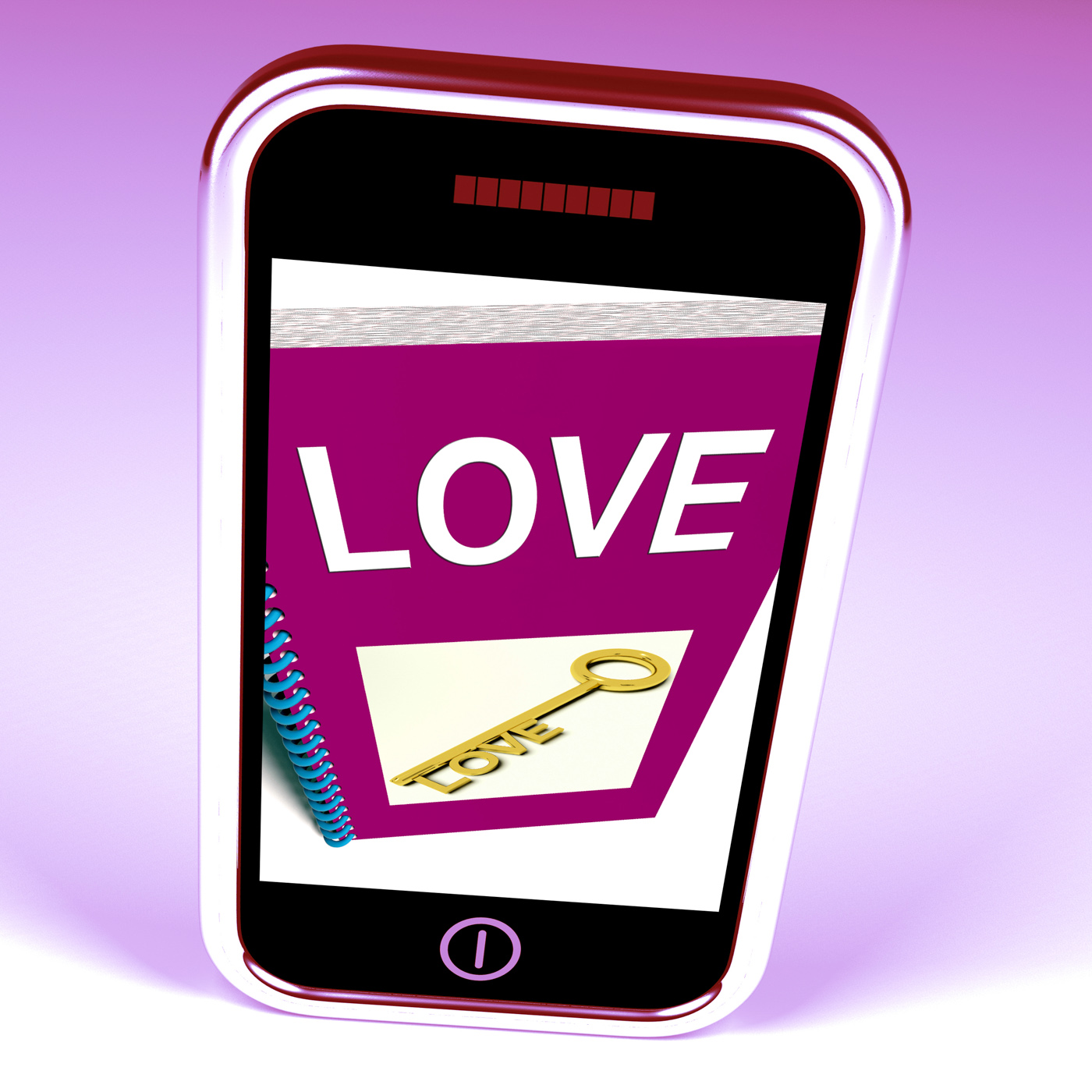 Love phone shows key to affectionate feelings photo