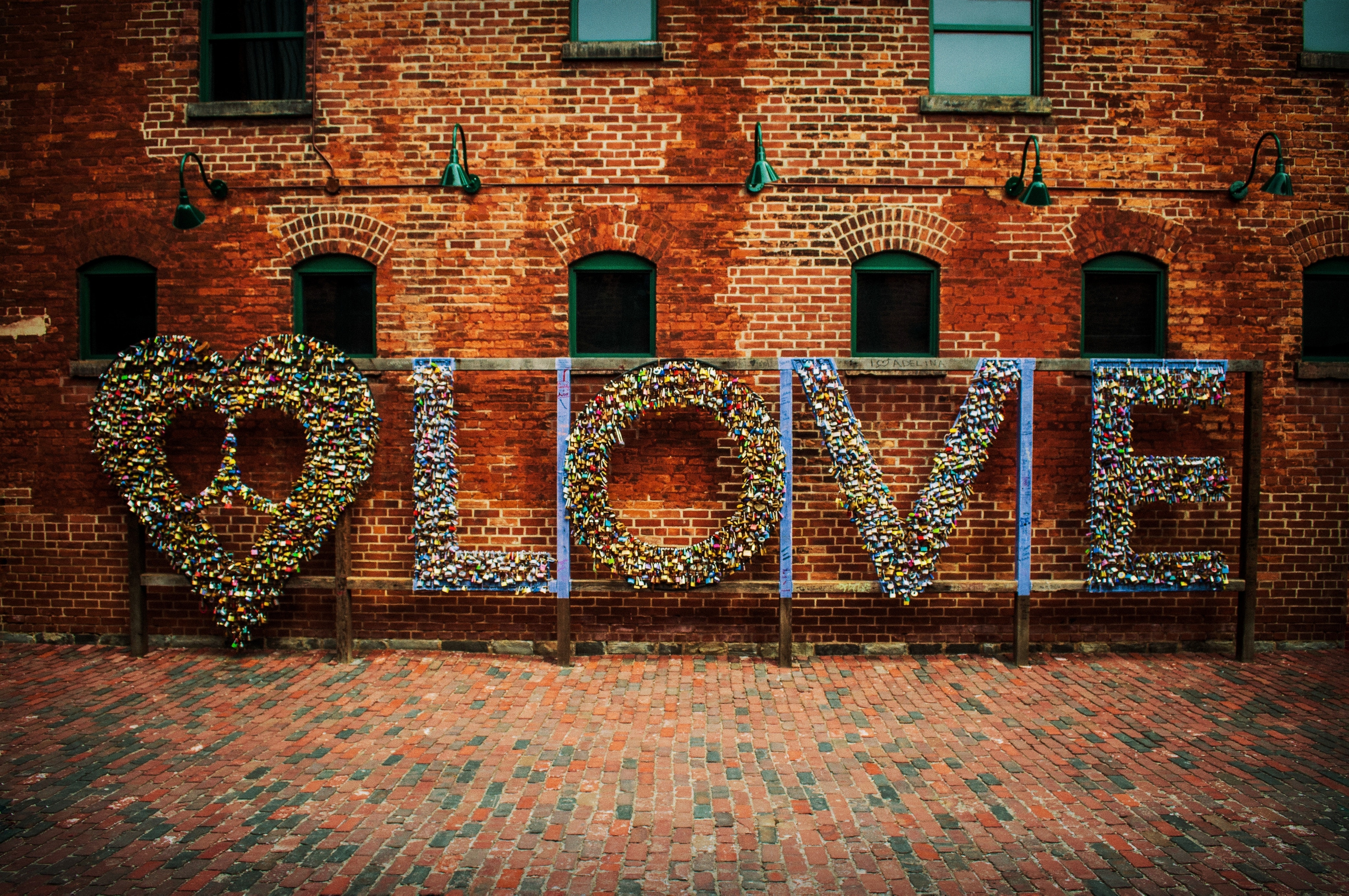 Love print wall decor photo
