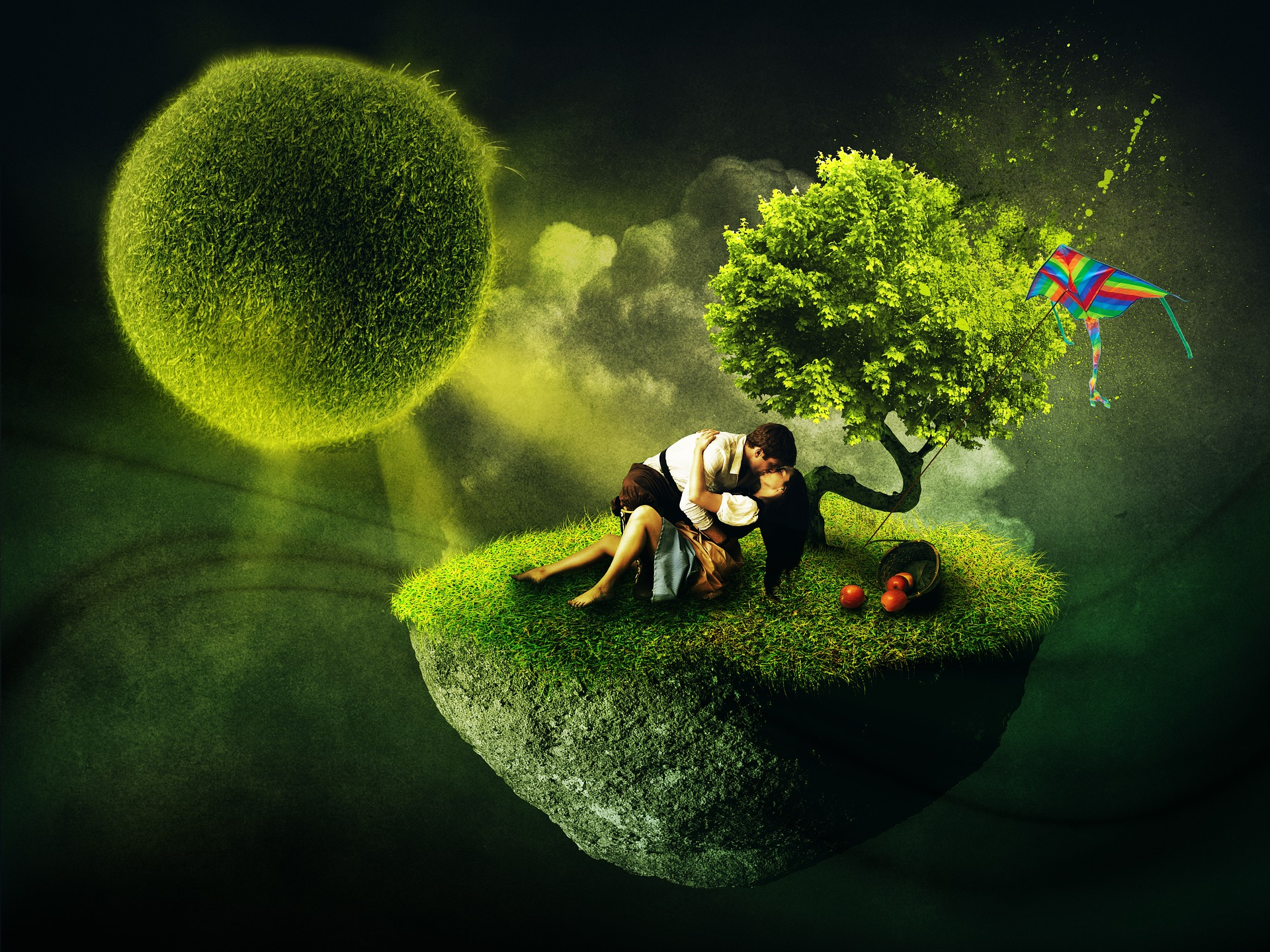 Love Story, Couple, Green, Love, Lover, HQ Photo