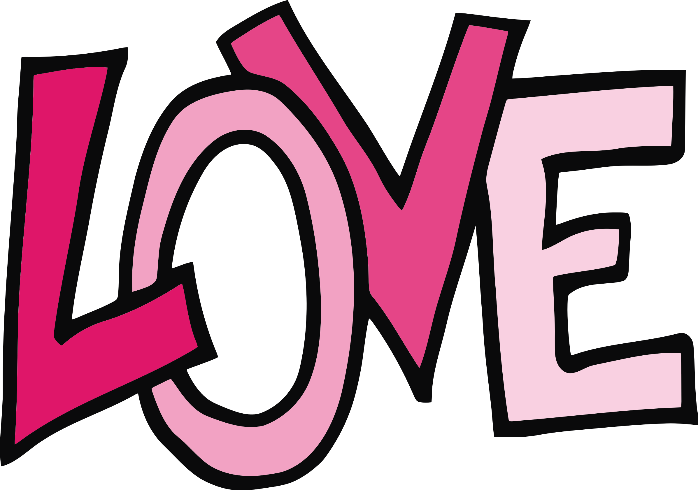 Clipart - Love Text