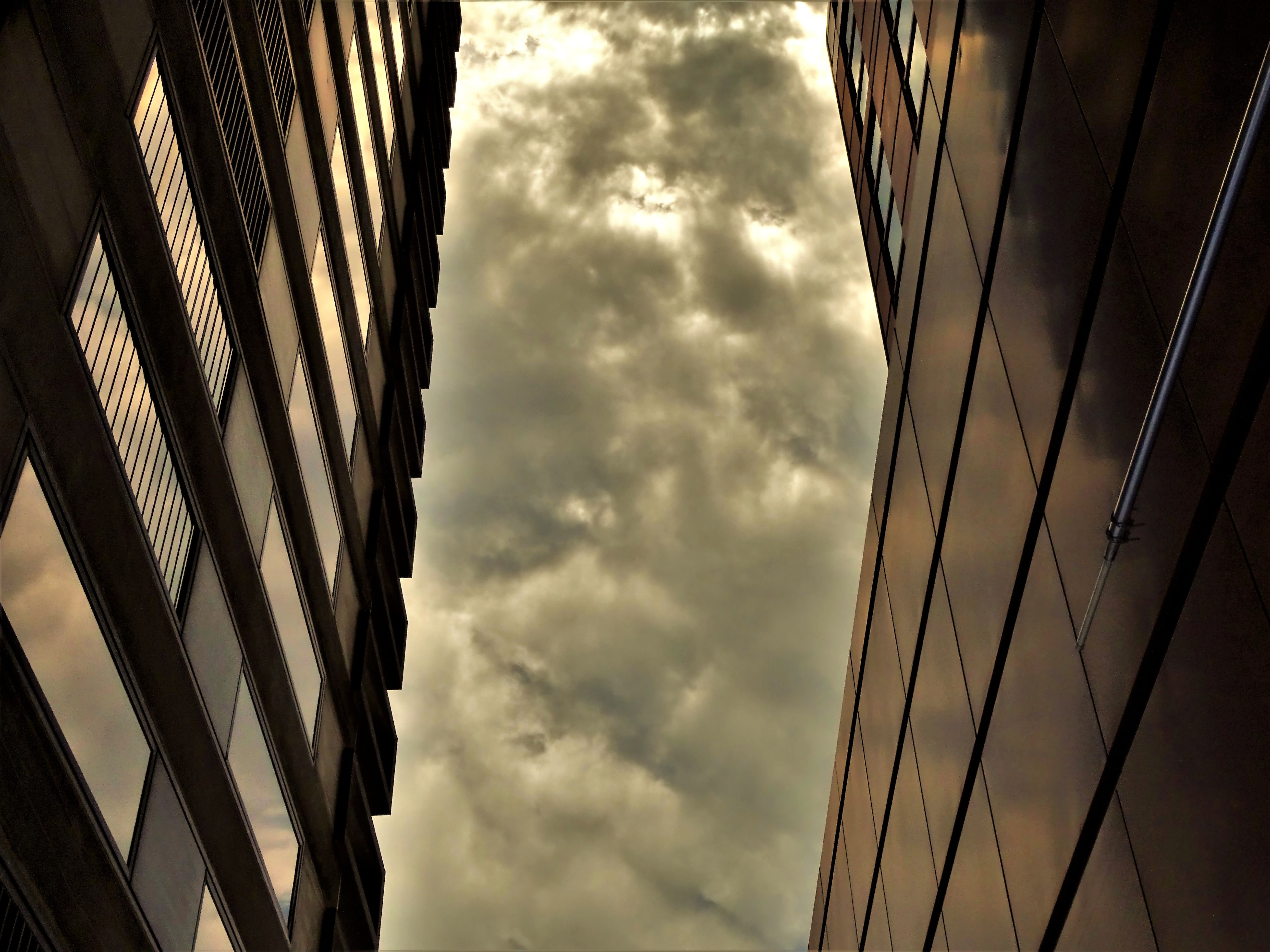 Low angle of brown high-rise building photo