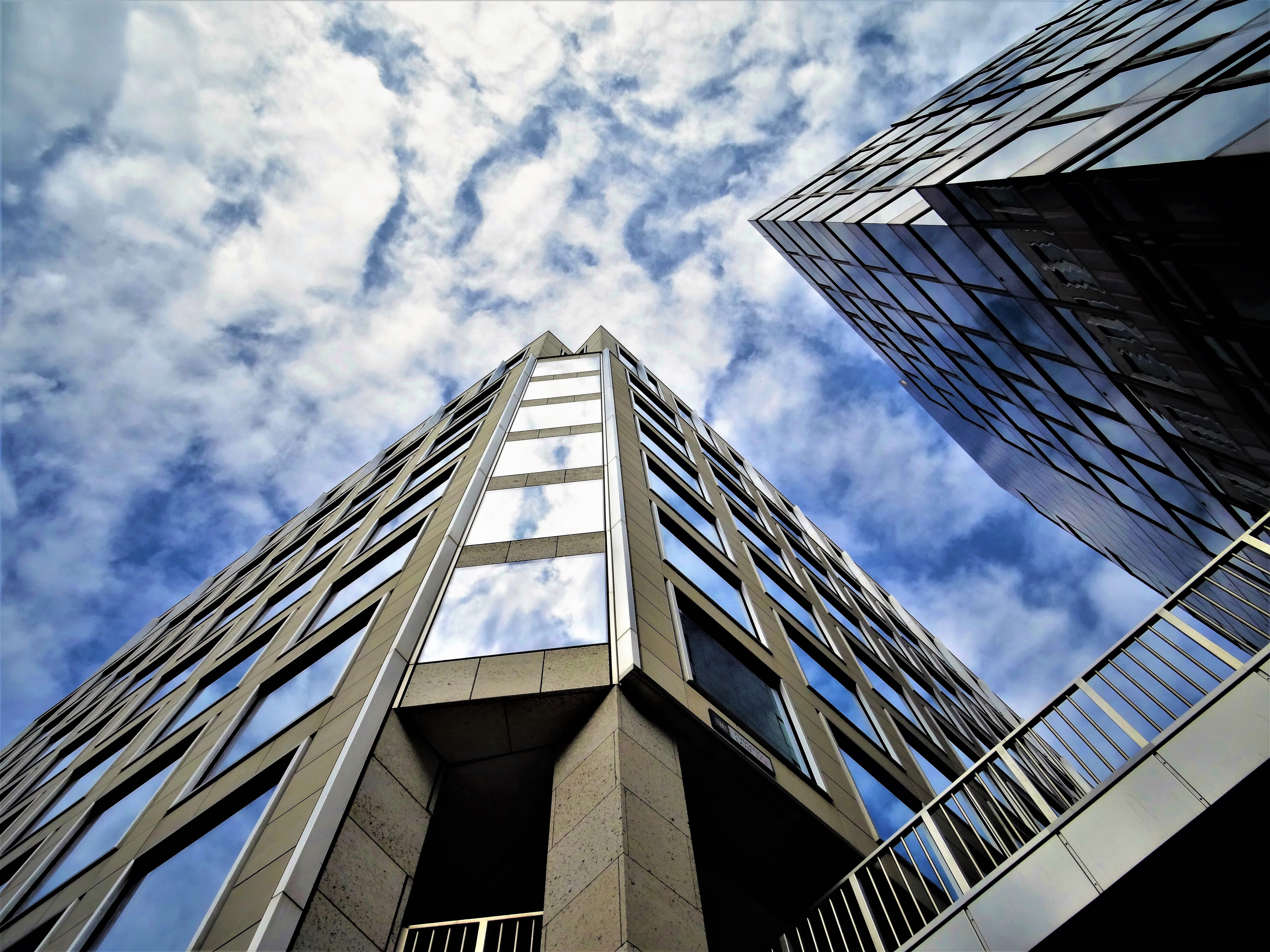 Low Angle Photography of High Rise Building, Architectural design, Modern, Steel, Skyscraper, HQ Photo