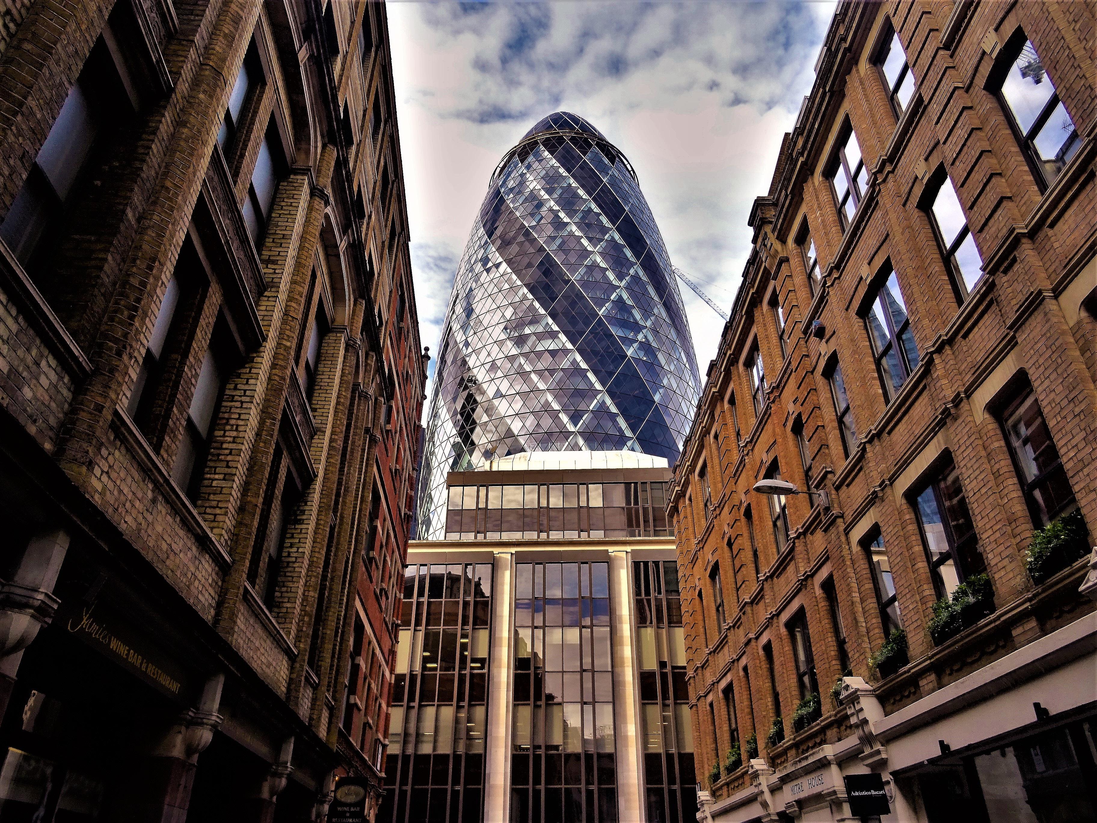 Low Angle Shot of Buildings, Glass windows, Windows, Urban, Travel, HQ Photo