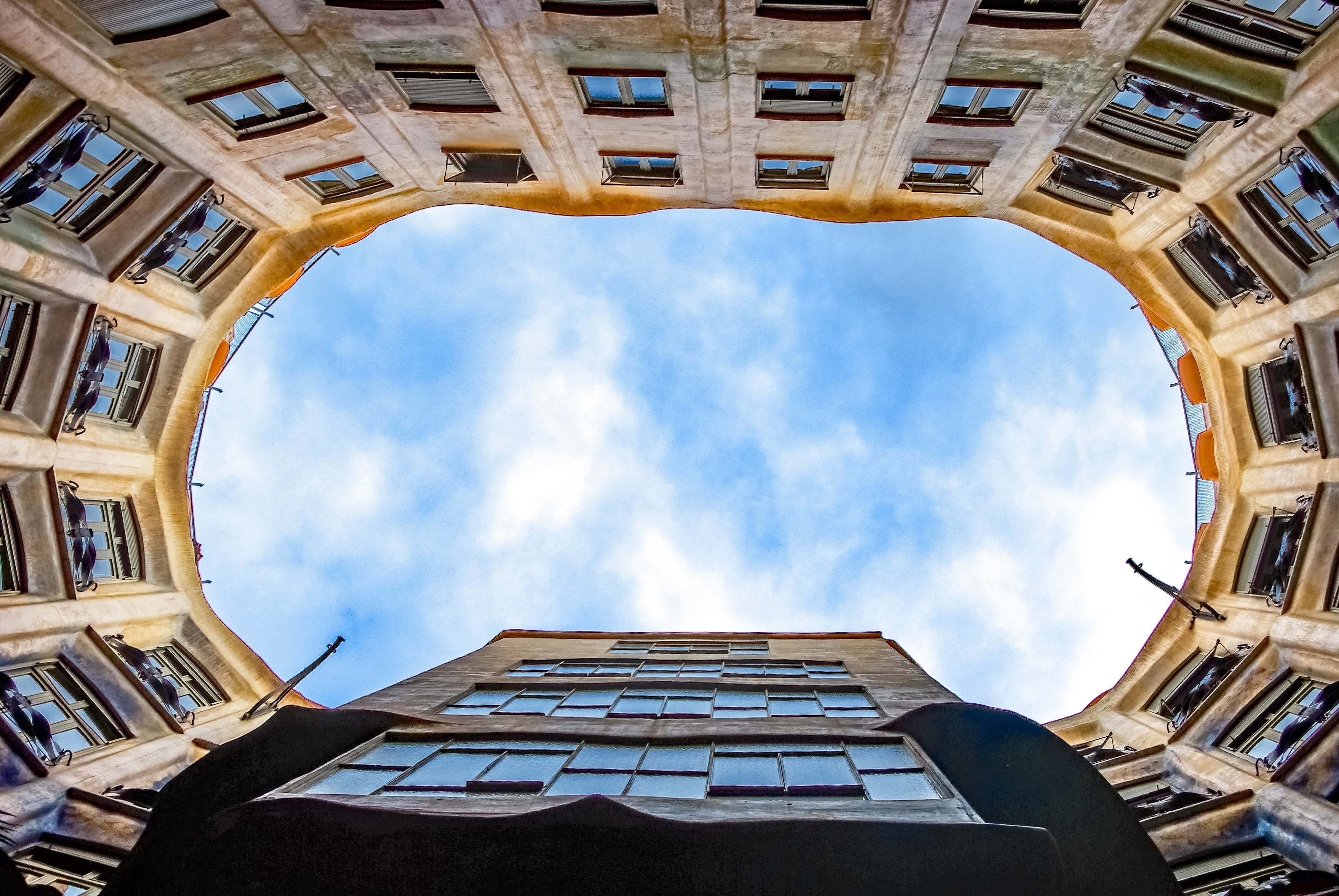 Low Angle View of Building Against Sky, Architecture, Barcelona, Building, City, HQ Photo