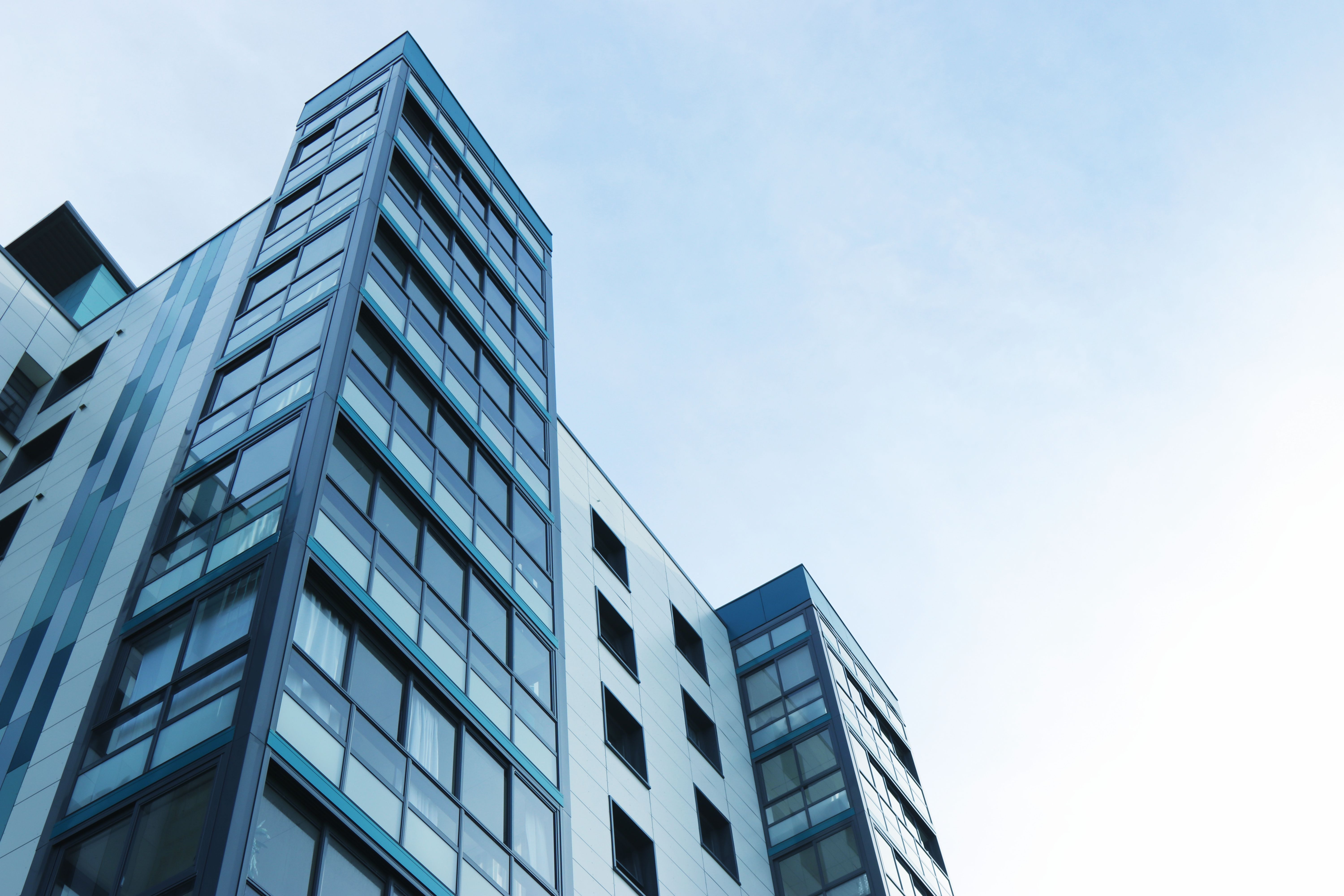 Low Angle View of Office Building Against Sky, Futuristic, Urban, Tallest, Structure, HQ Photo