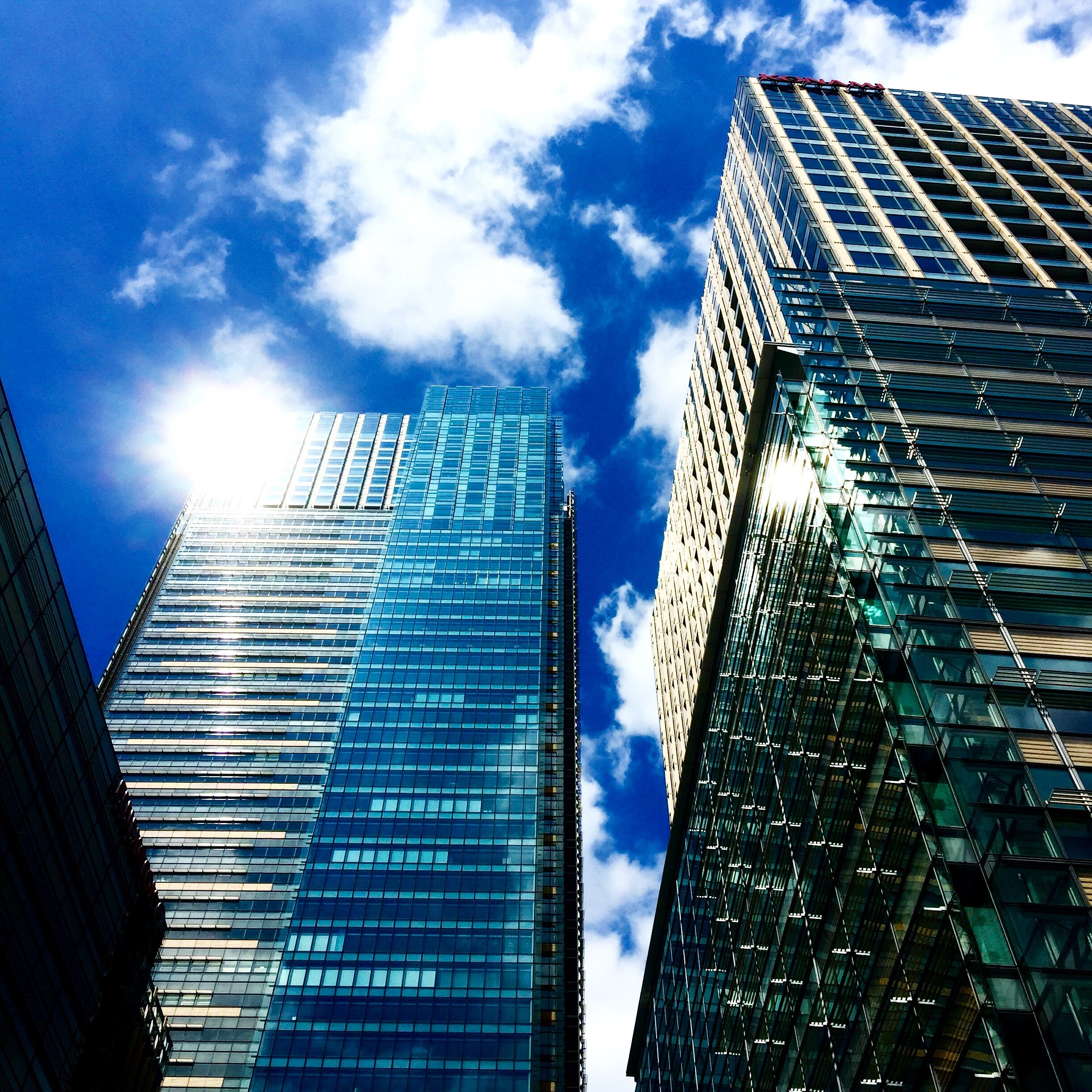 Low Angle View of Skyscrapers Against Sky, Office, Windows, Urban, Tower, HQ Photo