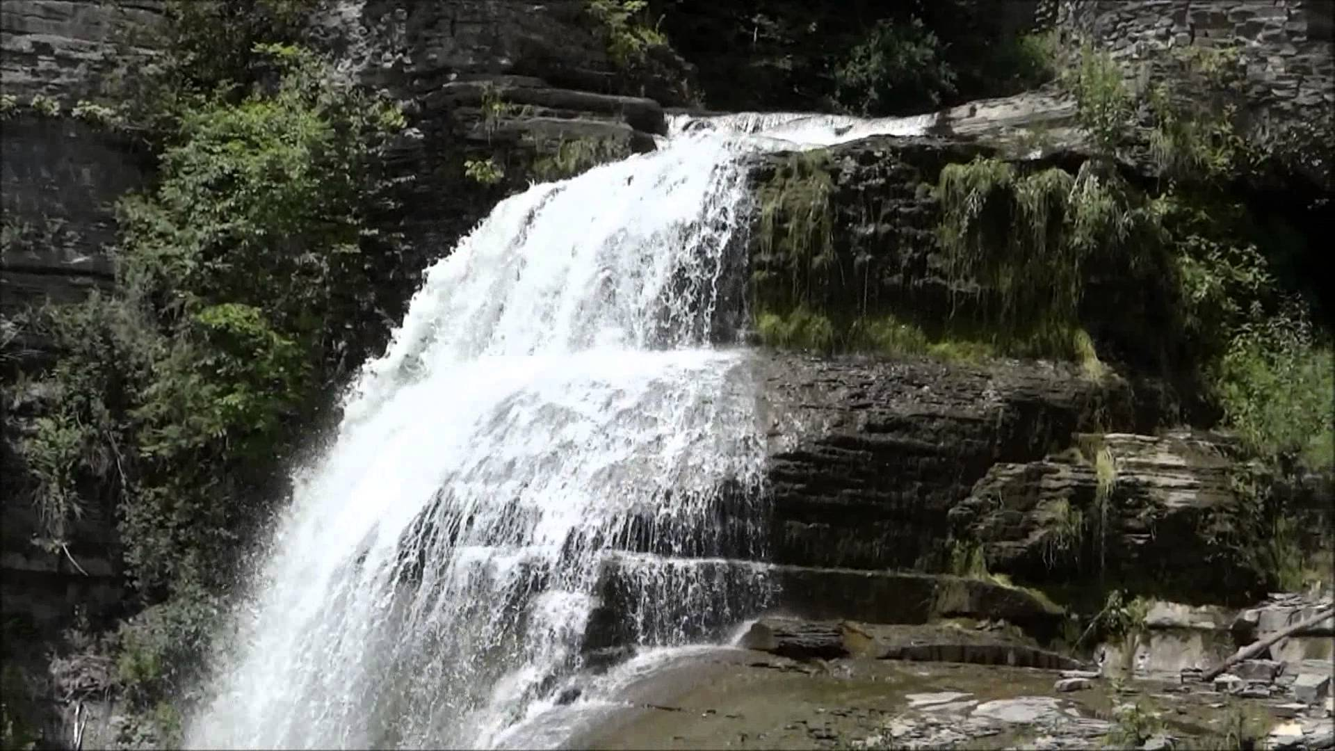 Lucifer Falls at Robert H Treman State Park, Ithaca, NY State, July ...