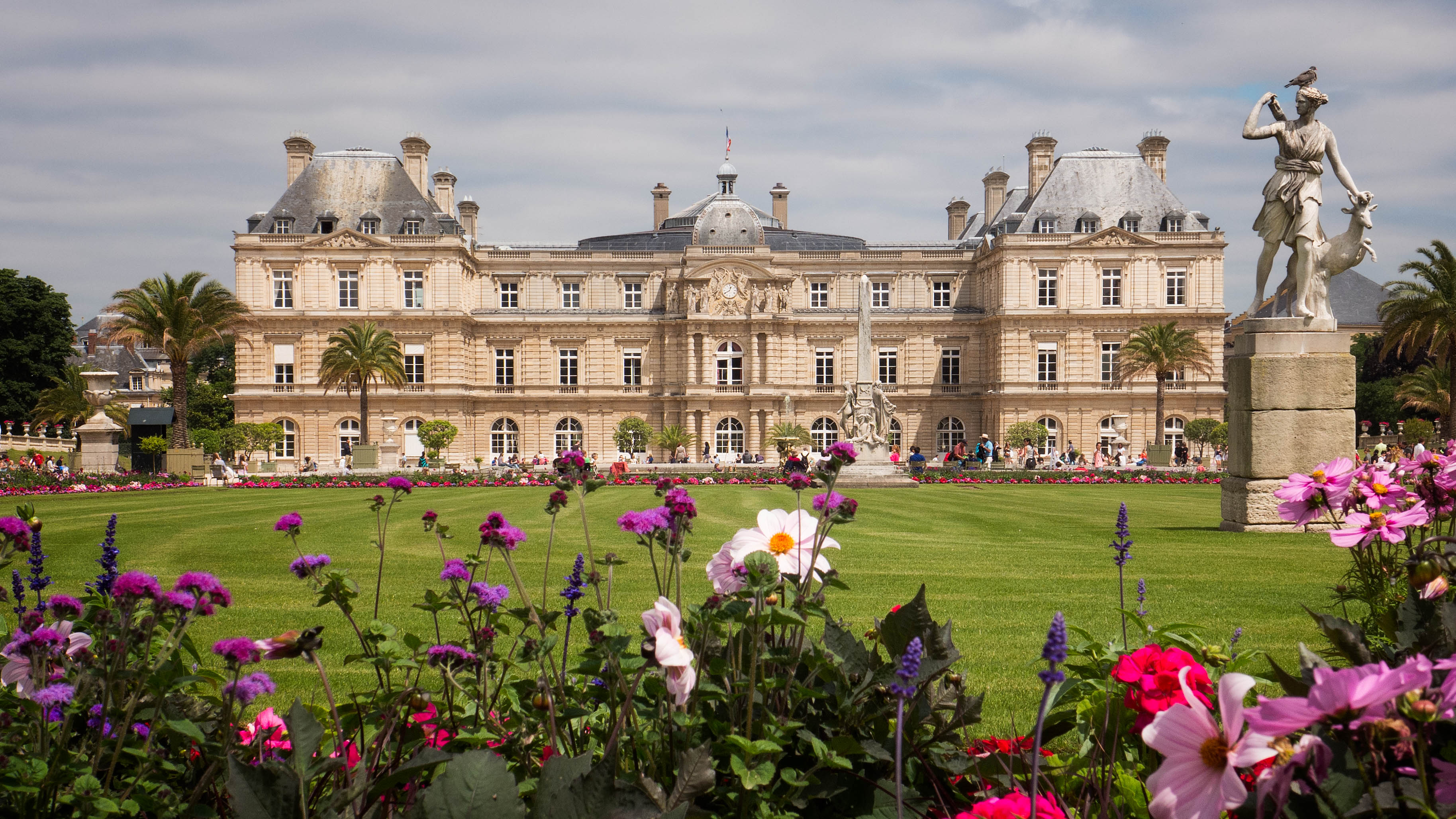 Luxembourg Palace, Paris France, 2013, Landscape, Statue, Senate, HQ Photo