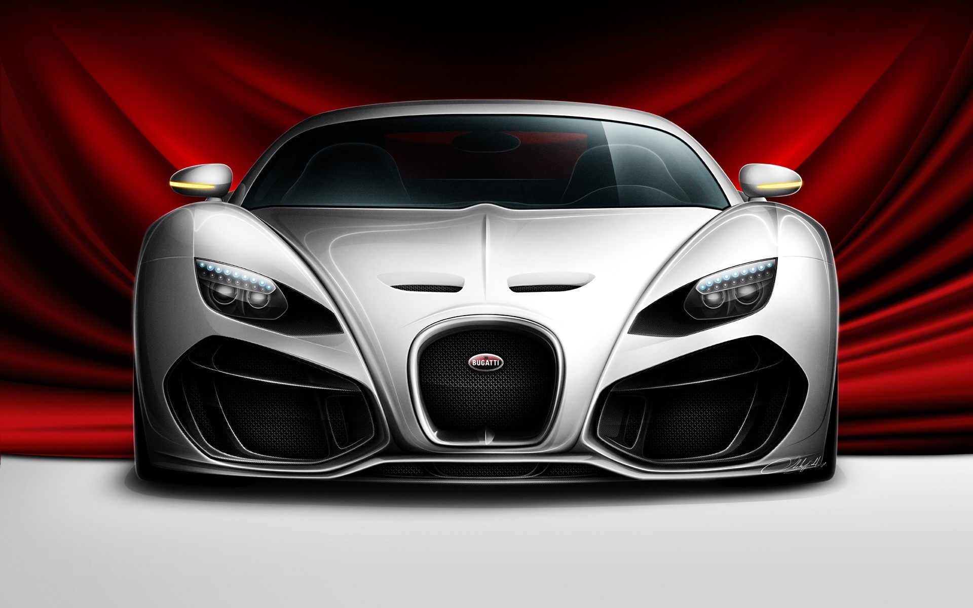 White Bugatti Luxury Car HD Front Face Photo | HD Famous Wallpapers