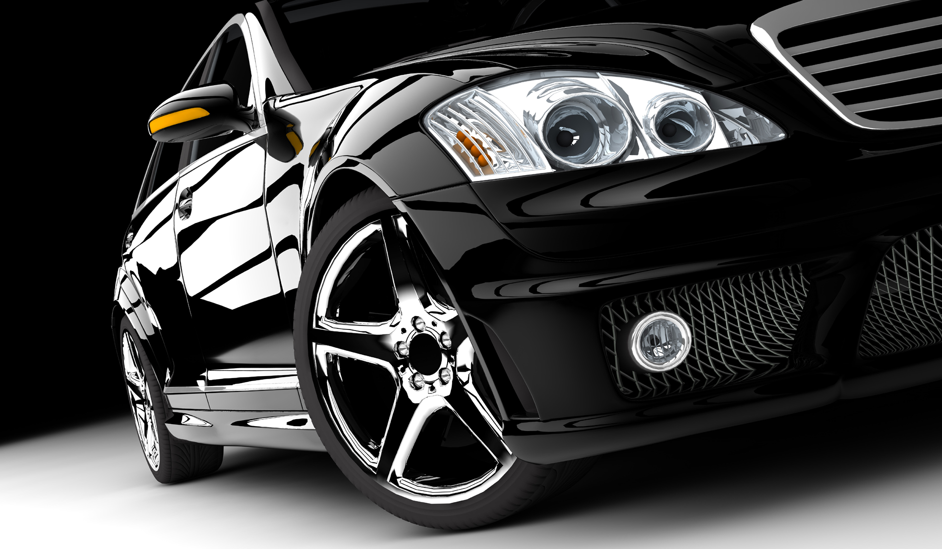 Black premium car front 52800 - Automotive Wallpapers - Traffic