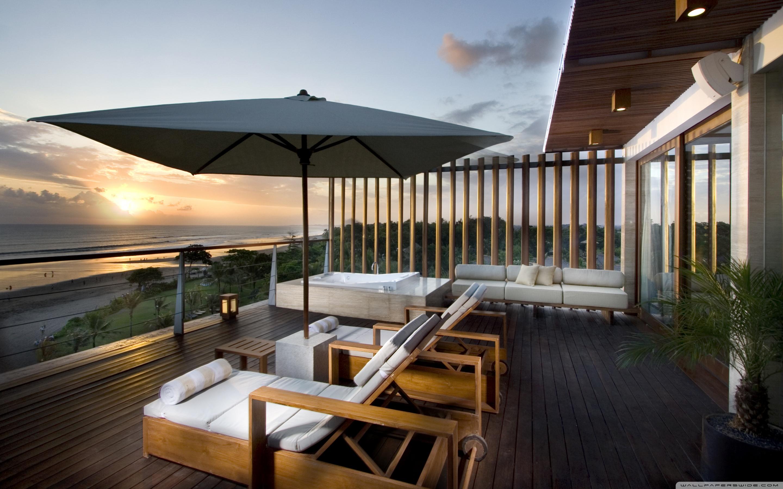 Luxury terrace photo