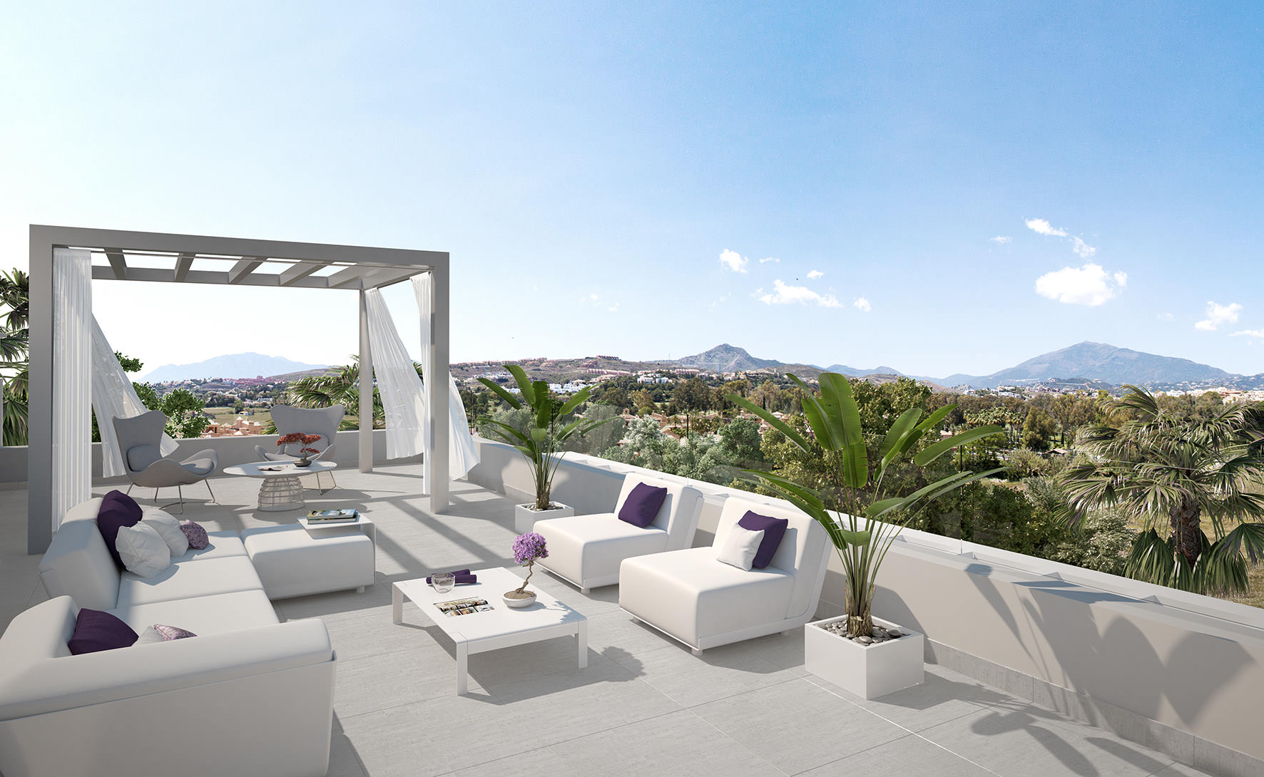 New penthouse for sale Cataleya Estepona with large terrace • Realista