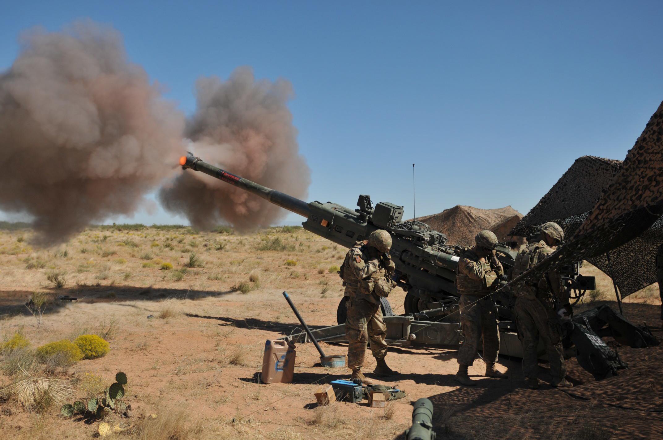 M777 howitzer artillery piece photo