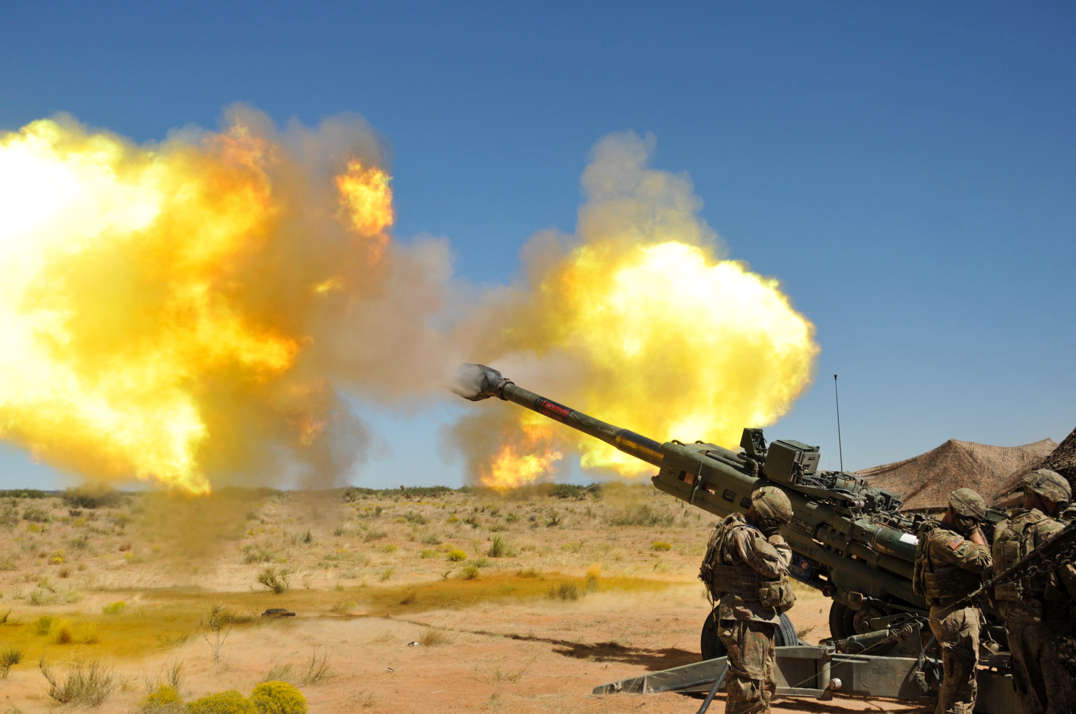 M777 Howitzer Artillery, Artillery, Cannon, Fire, Firepower, HQ Photo