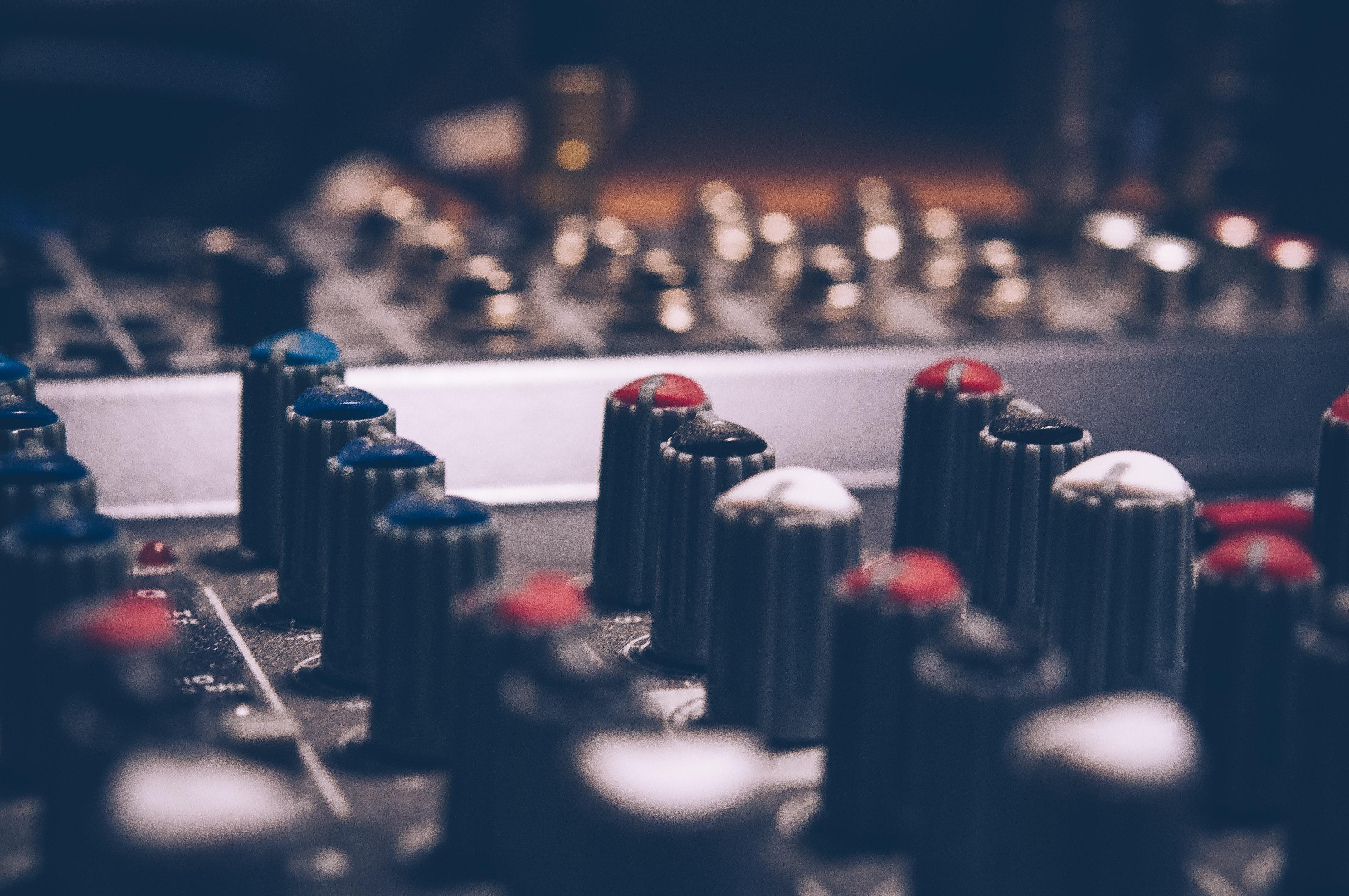 Free photo: Macro Shot Audio Equalizer - Music, Mixing panel, Mixer