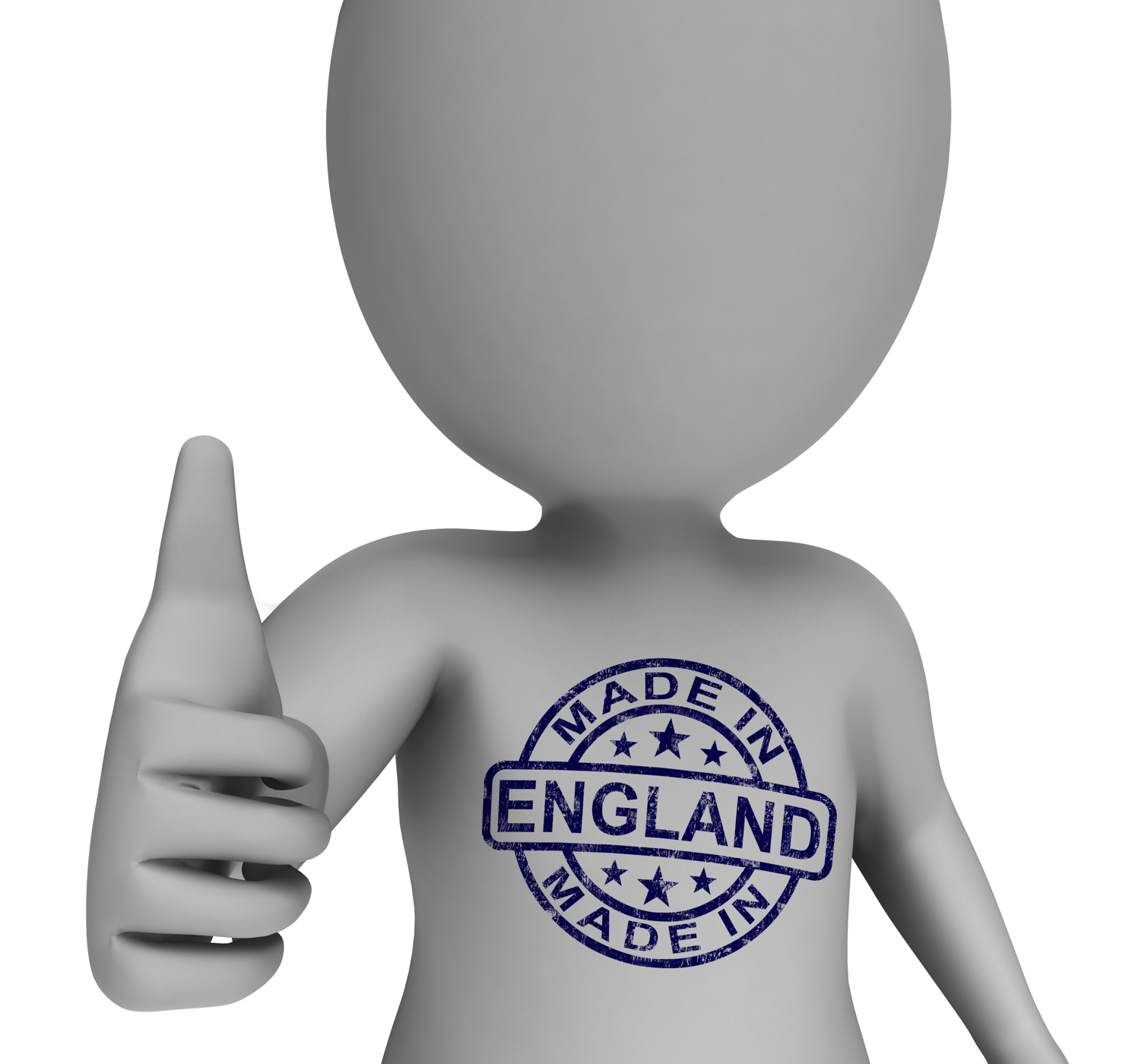 Made In England Stamp On Man Shows English Products Approved, Manufactured, Stamp, Products, Product, HQ Photo