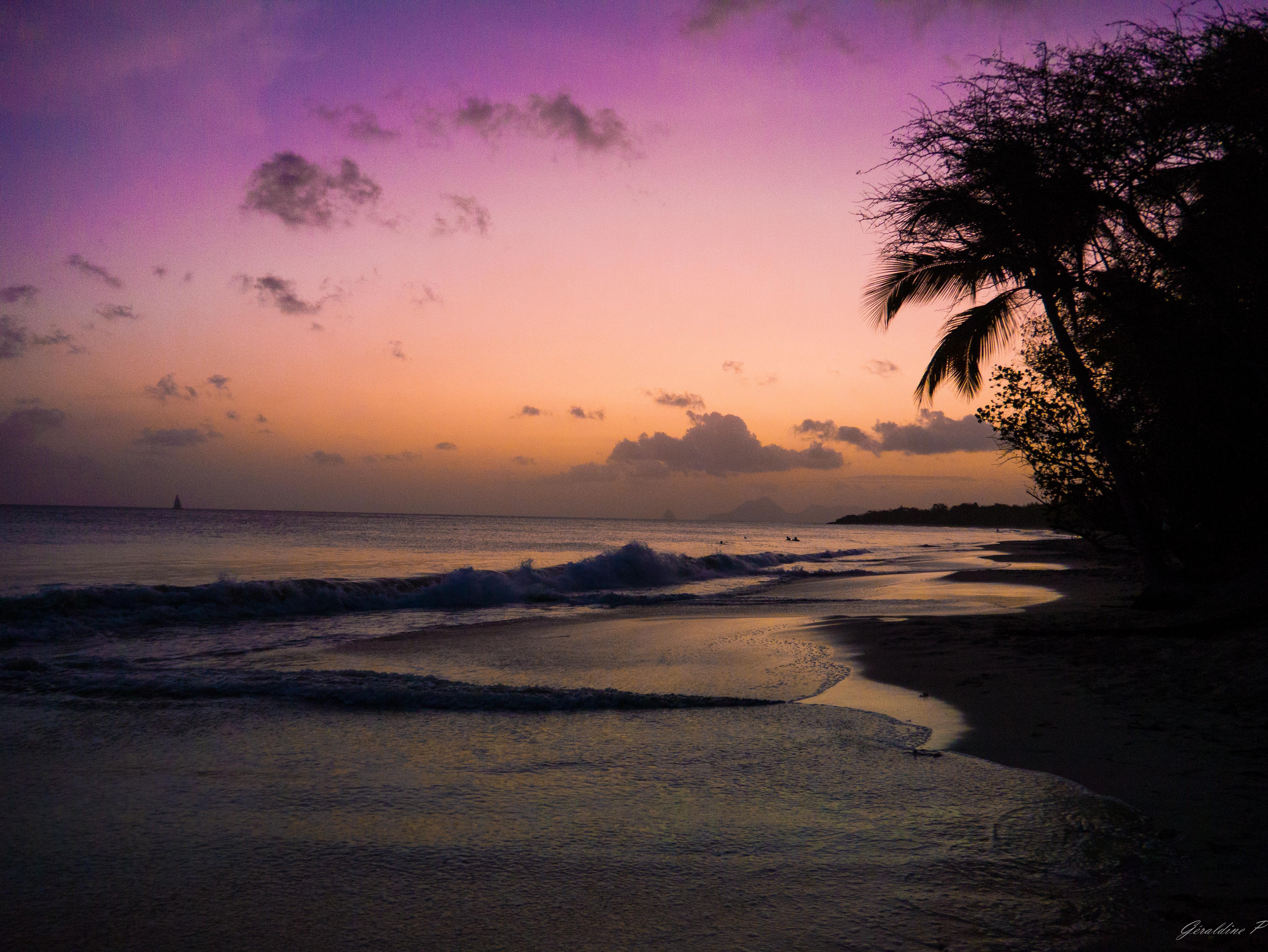 Madinina, les salines couche de soleil, Outdoor, Serene, Sky, Sunset, HQ Photo