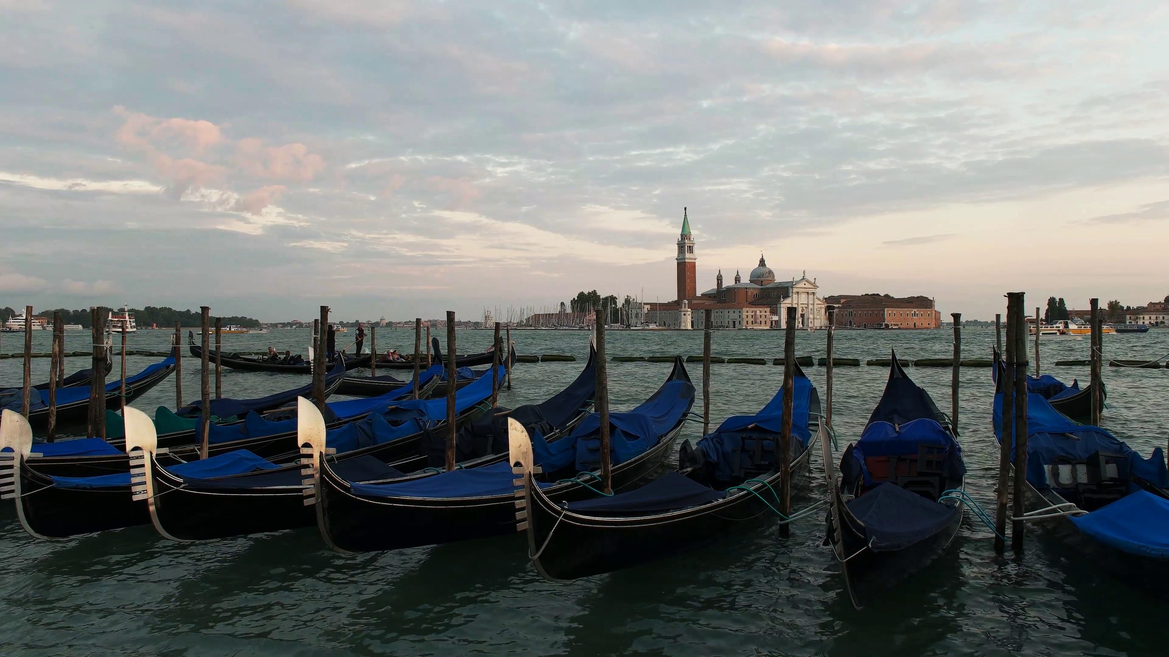 Maggiore and gondolas photo