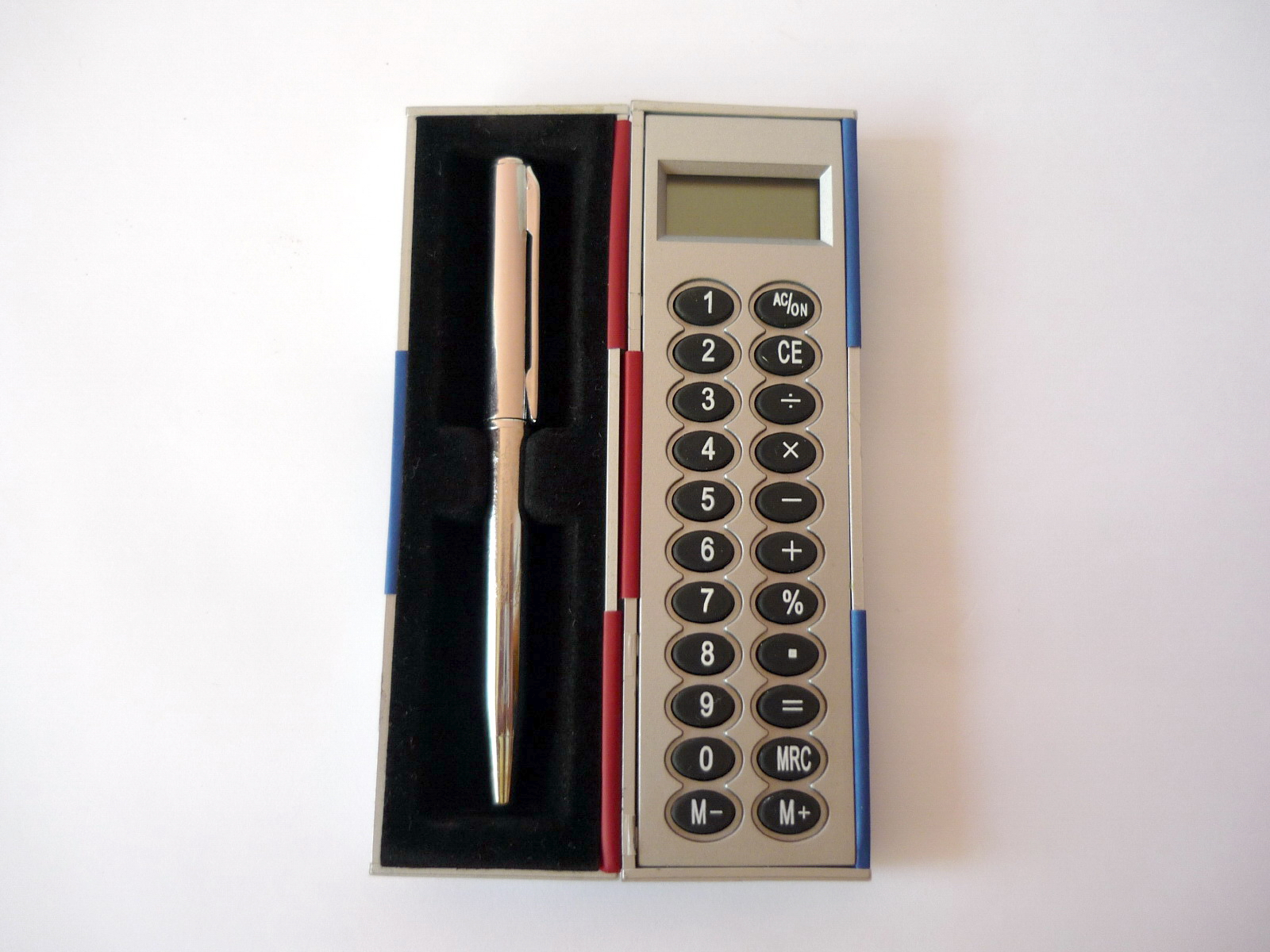 Magic Calculator With Ball Pen, Ballpen, Blue, Calculator, Metallicsilver, HQ Photo