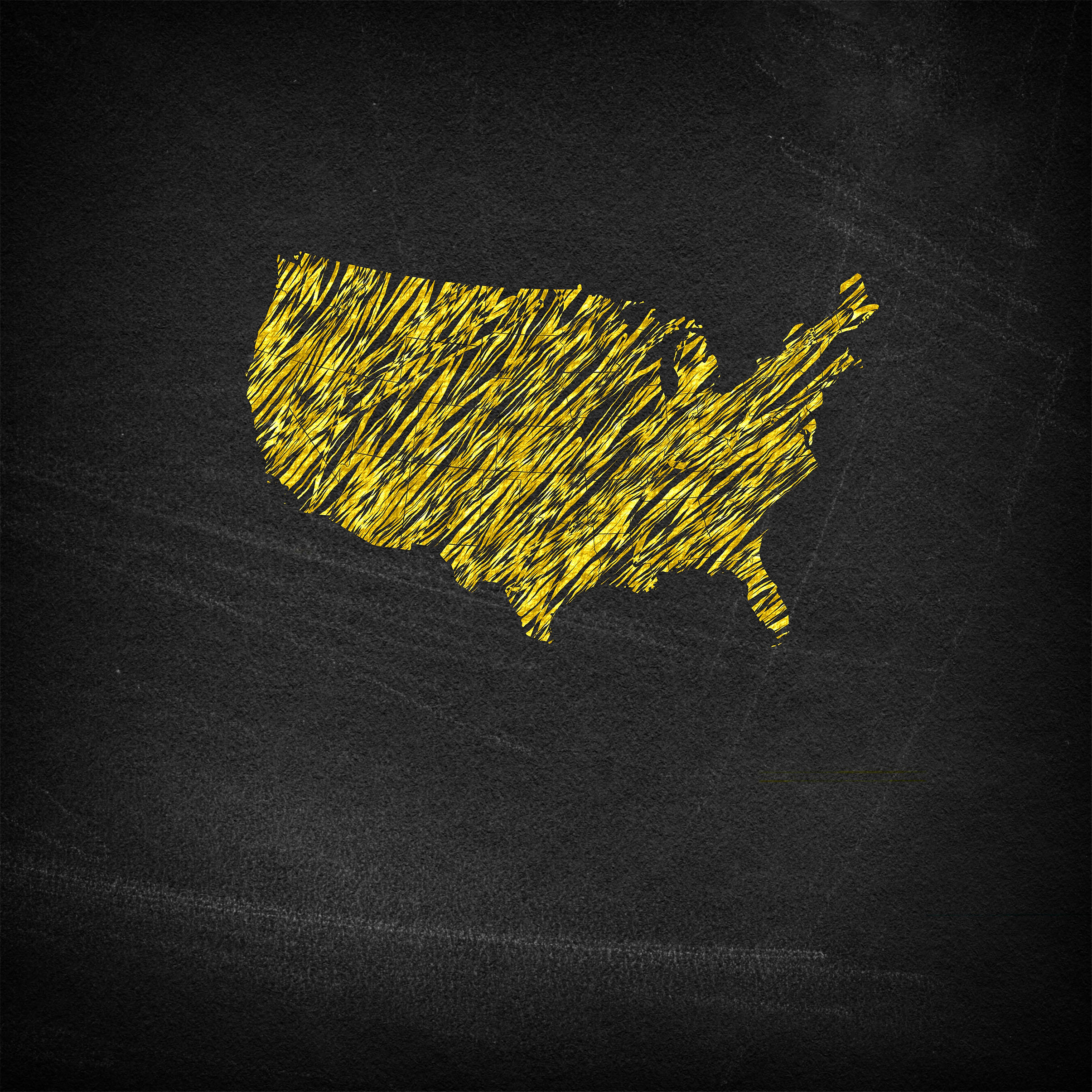 Main continental United States on chalkboard, Abstract, Outline, Shape, Shadow, HQ Photo