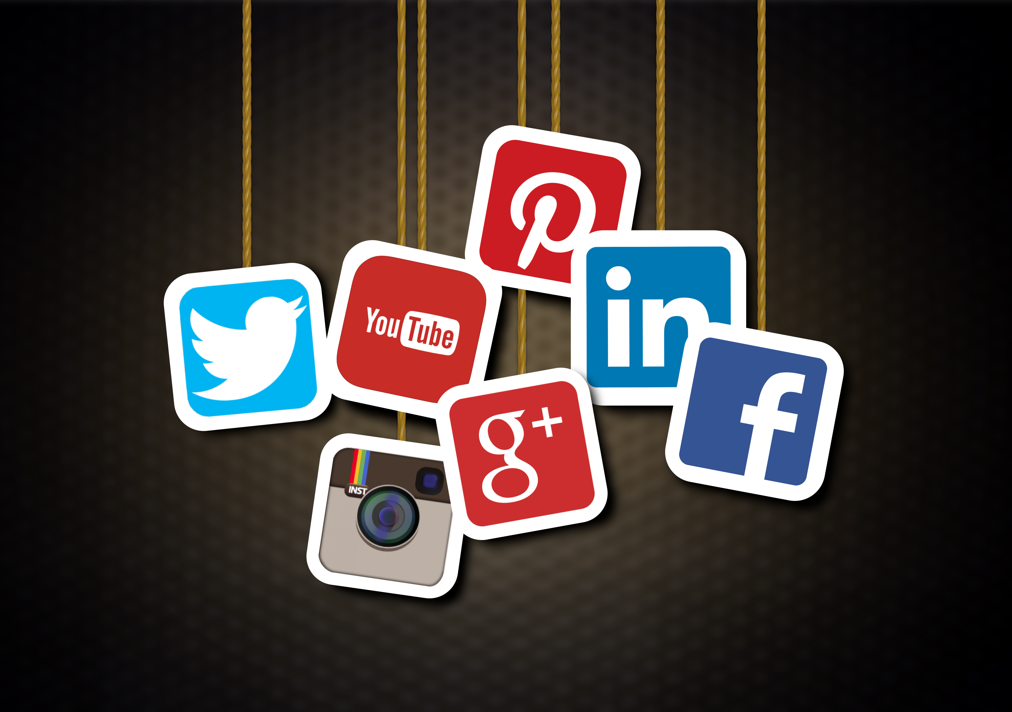 Main social media brands - Illustration, Abstract, Number, Rotate, Presentation, HQ Photo