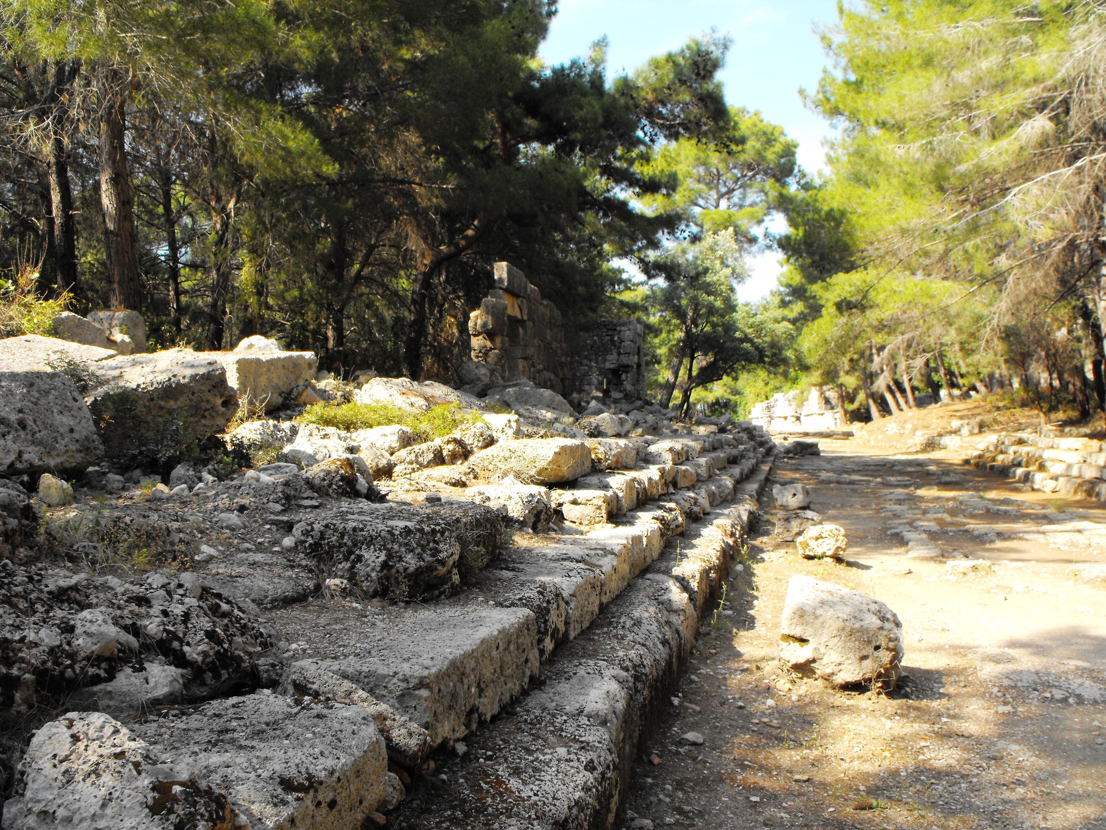 Main street in ancient phazelis photo