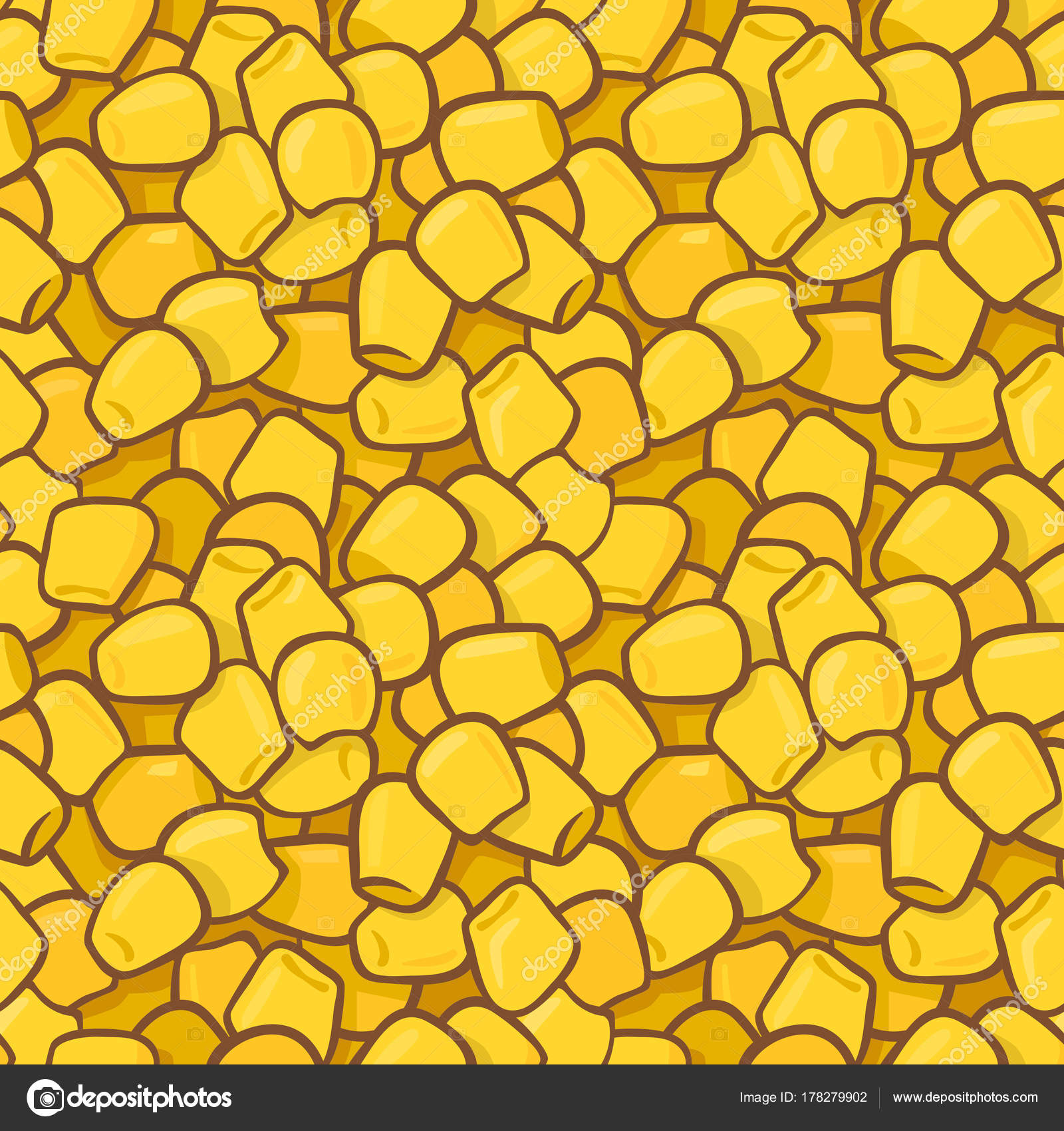 Seamless colorful vector pattern with maize corn kernels. — Stock ...