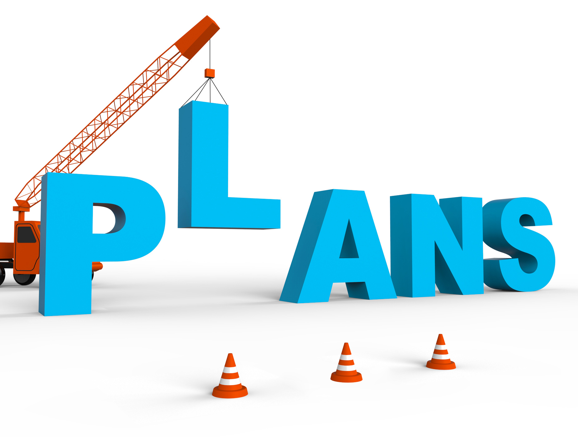 Make plans indicates goals planner 3d rendering photo