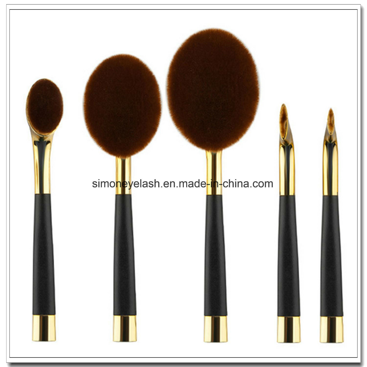 China Beauty Equipment Golf Shape Makeup Brush for Make up Artist ...