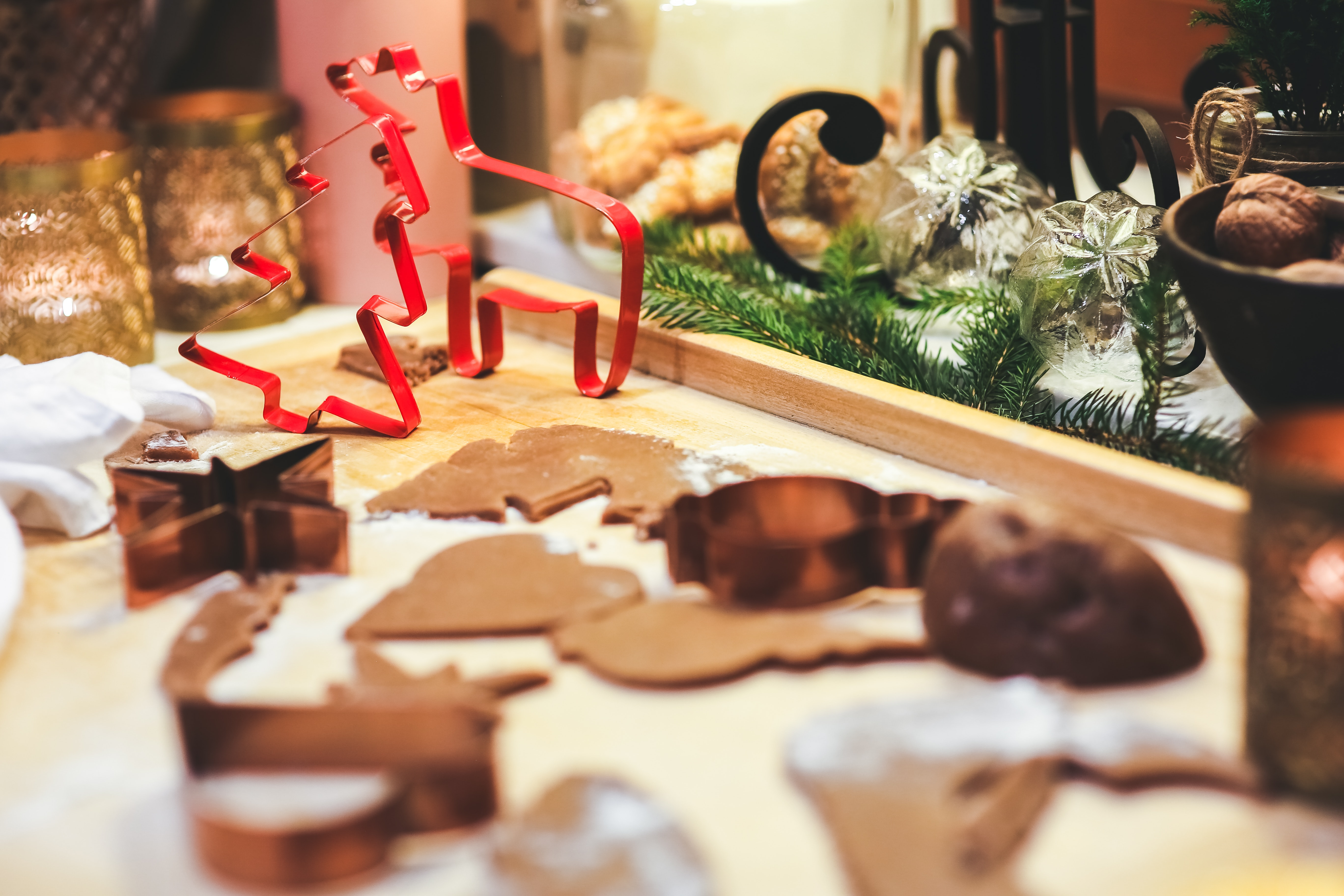 Making Gingerbread Cookies. Christmas Cookie Cutters., Milk, People, Interior design, Indulgence, HQ Photo