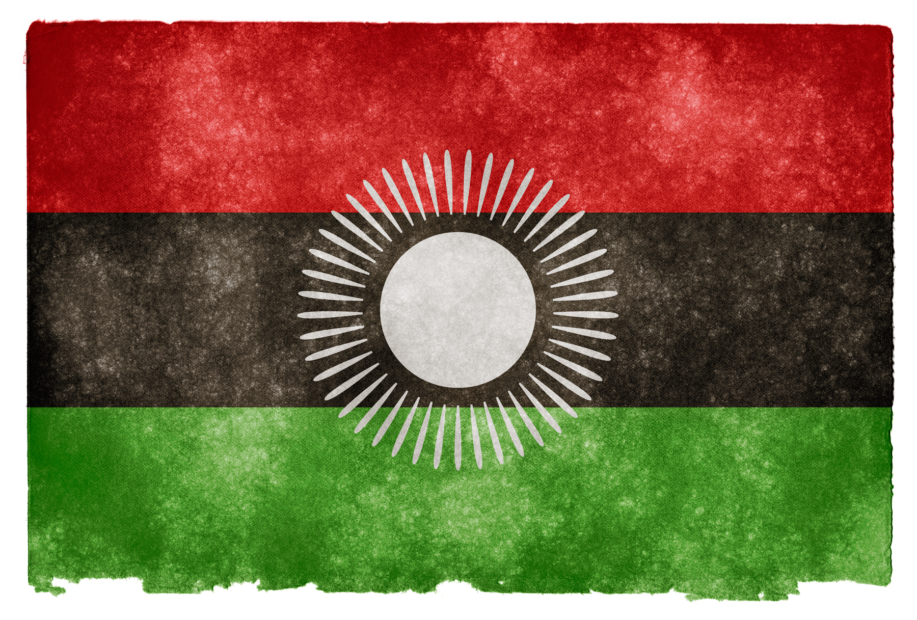 Malawi Grunge Flag, Africa, Round, Paper, Parchment, HQ Photo