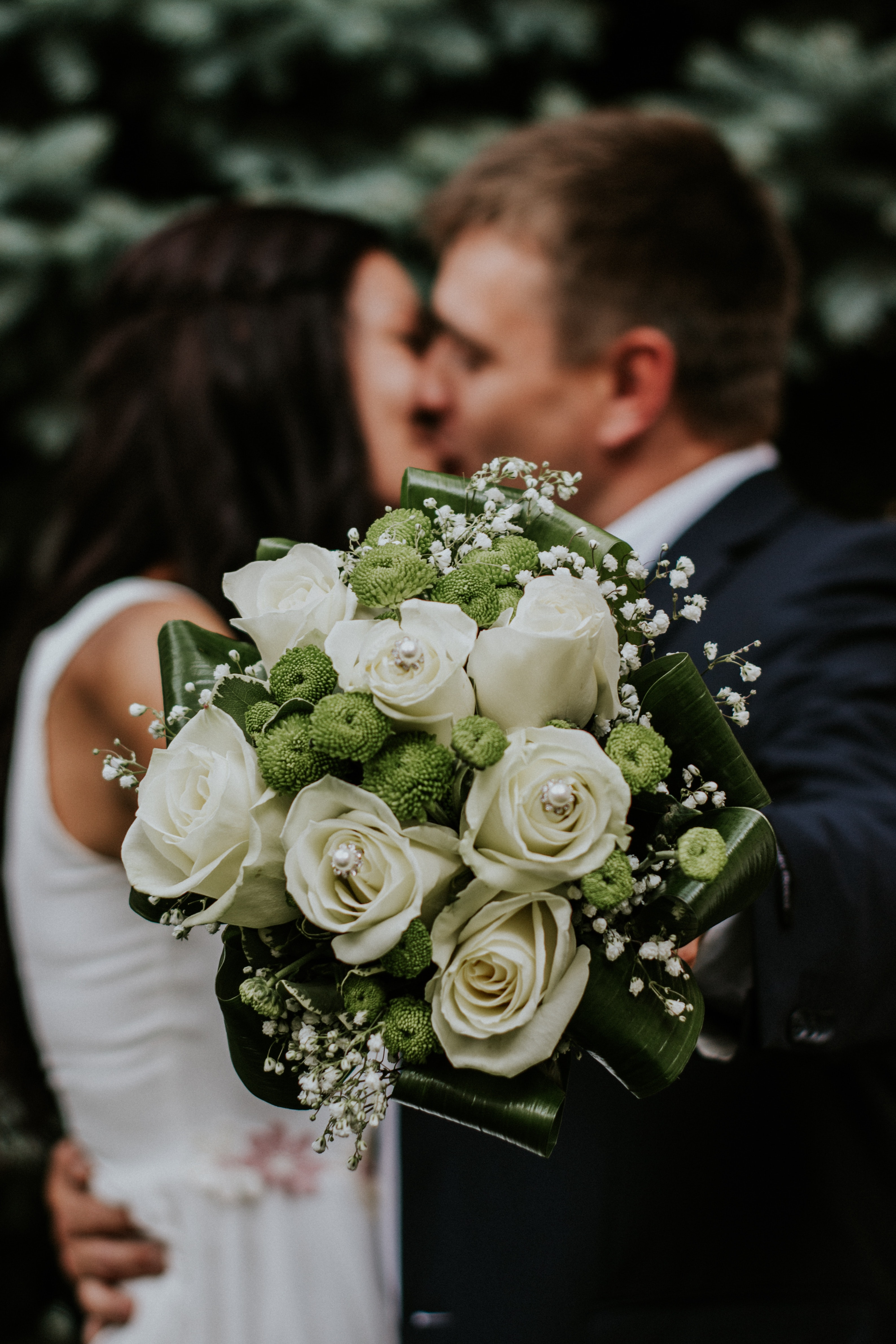 Free photo: Man and Woman Kissing - Petals, People, Outdoors - Free ...