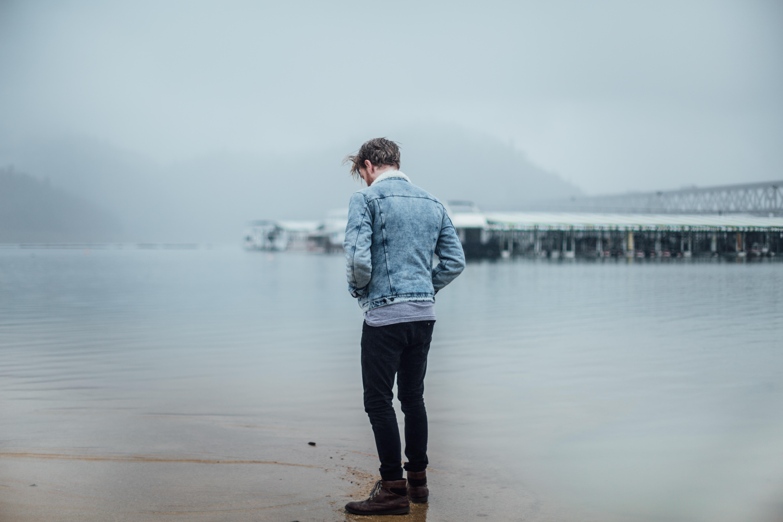 Man at the beach photo